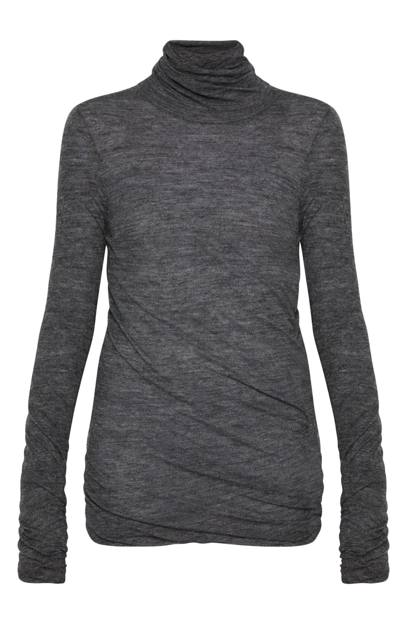 Twist Turtleneck Sweater,                             Alternate thumbnail 4, color,                             030