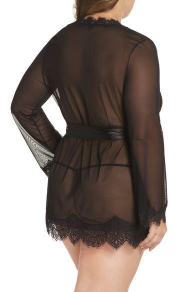 f7f3589e54 Oh La La Cheri Eyelash Lace Robe   G-String (Plus Size)
