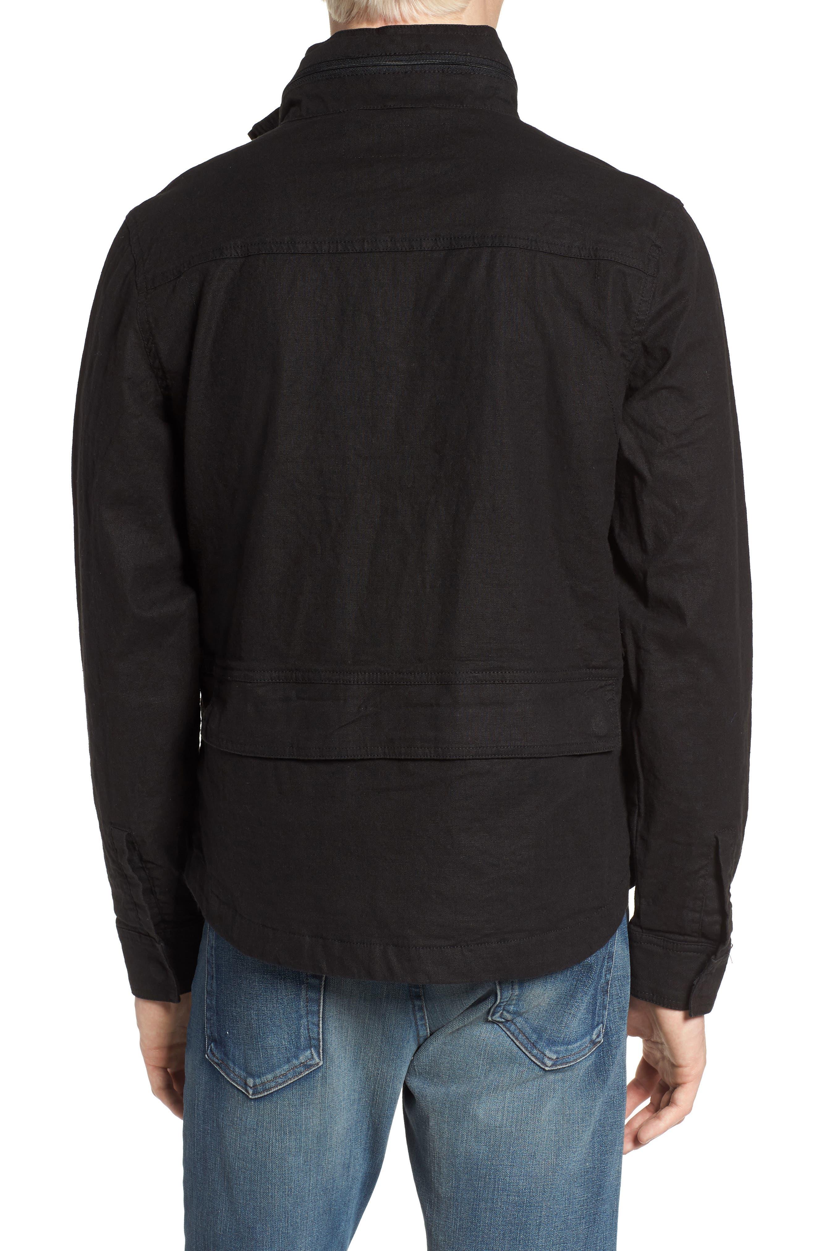 Linen Blend Zip Jacket,                             Alternate thumbnail 2, color,