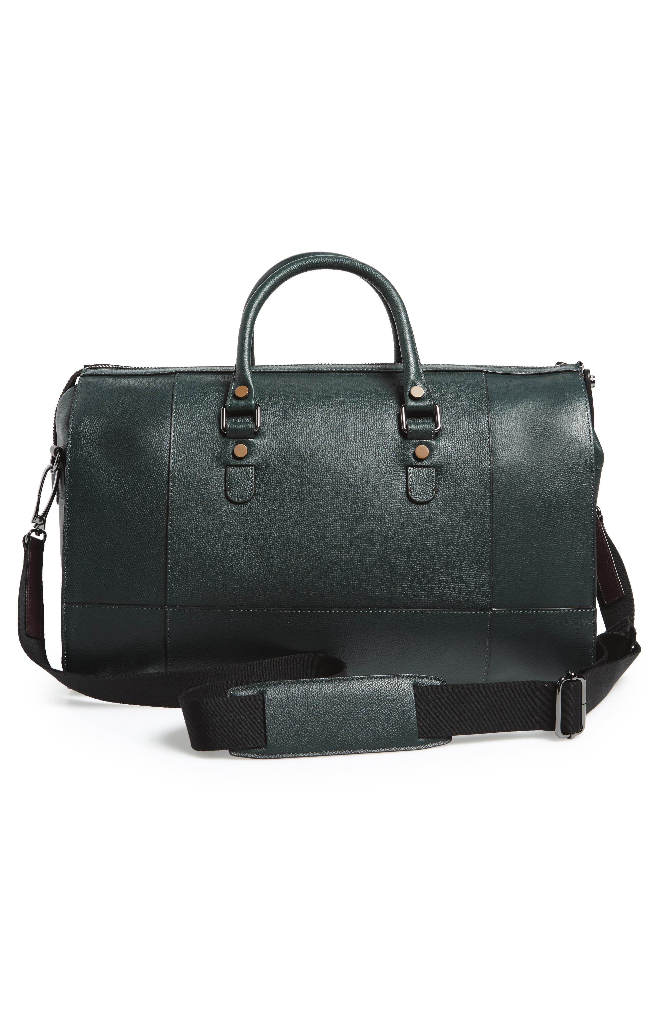 Panthea Leather Duffel Bag,                             Alternate thumbnail 3, color,                             301