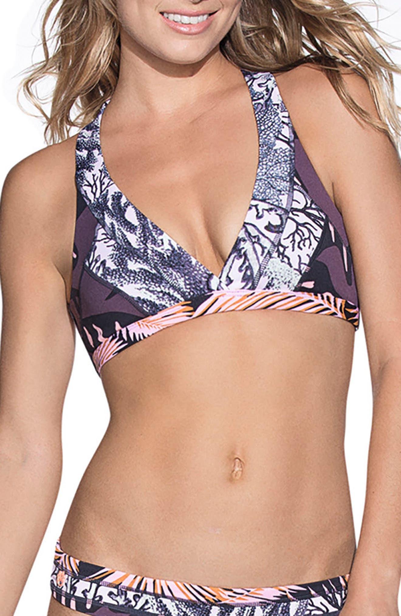 Hot Springs Reversible Bikini Top,                             Main thumbnail 1, color,                             001