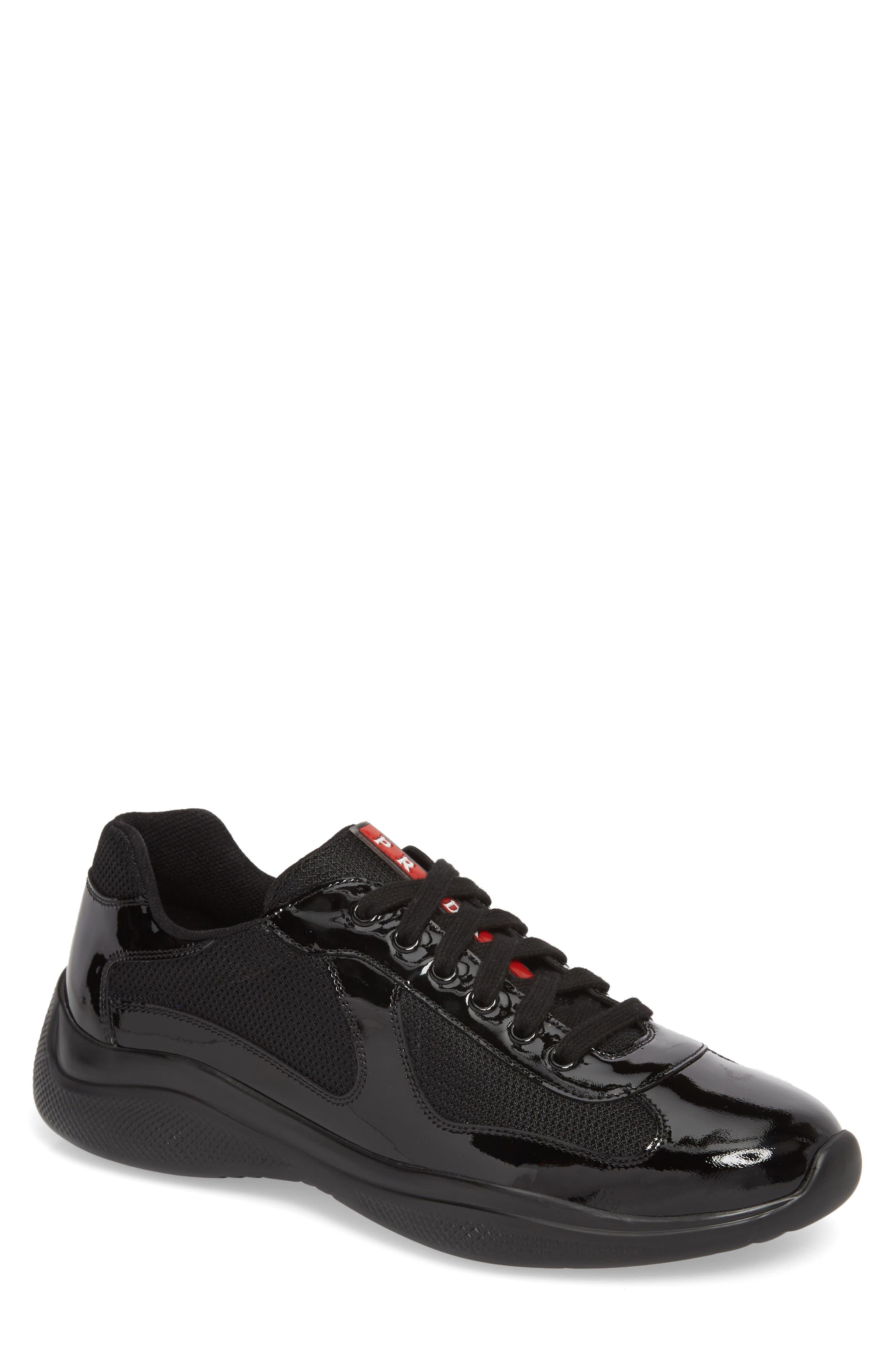 Americas Cup Sneaker,                             Main thumbnail 1, color,                             NERO/ ARGENTO