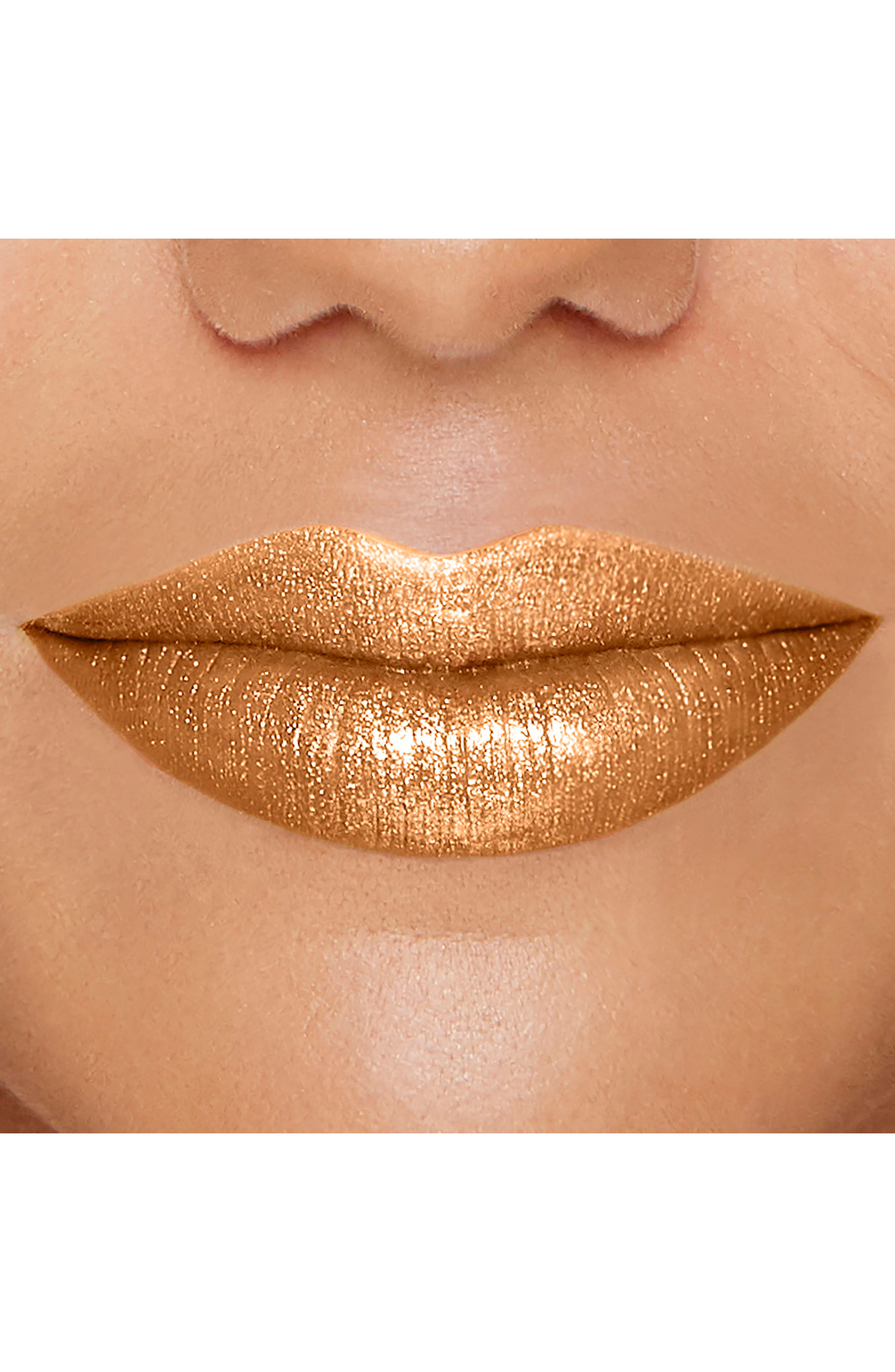 Melted Gold Liquified Gold Lip Gloss,                             Alternate thumbnail 7, color,                             GOLD