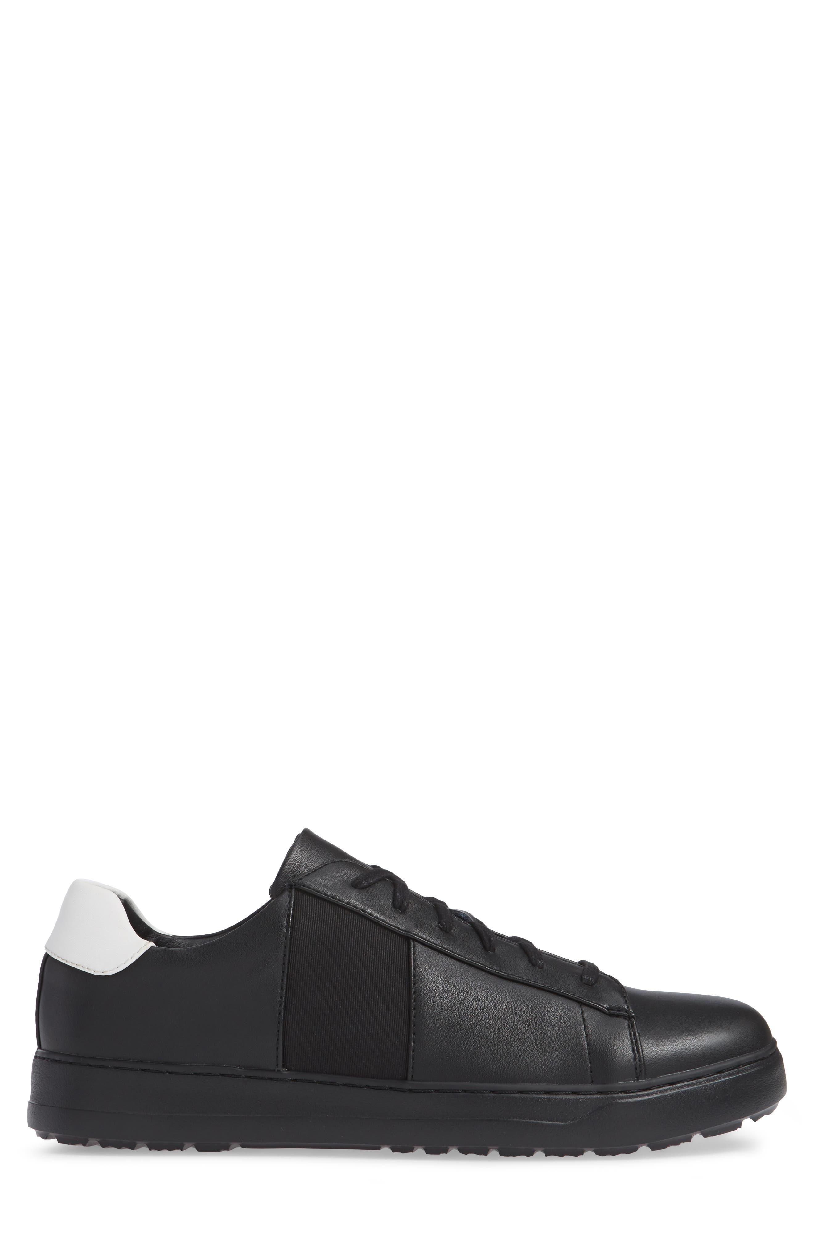 Sammy 2 Sneaker,                             Alternate thumbnail 3, color,                             BLACK LEATHER