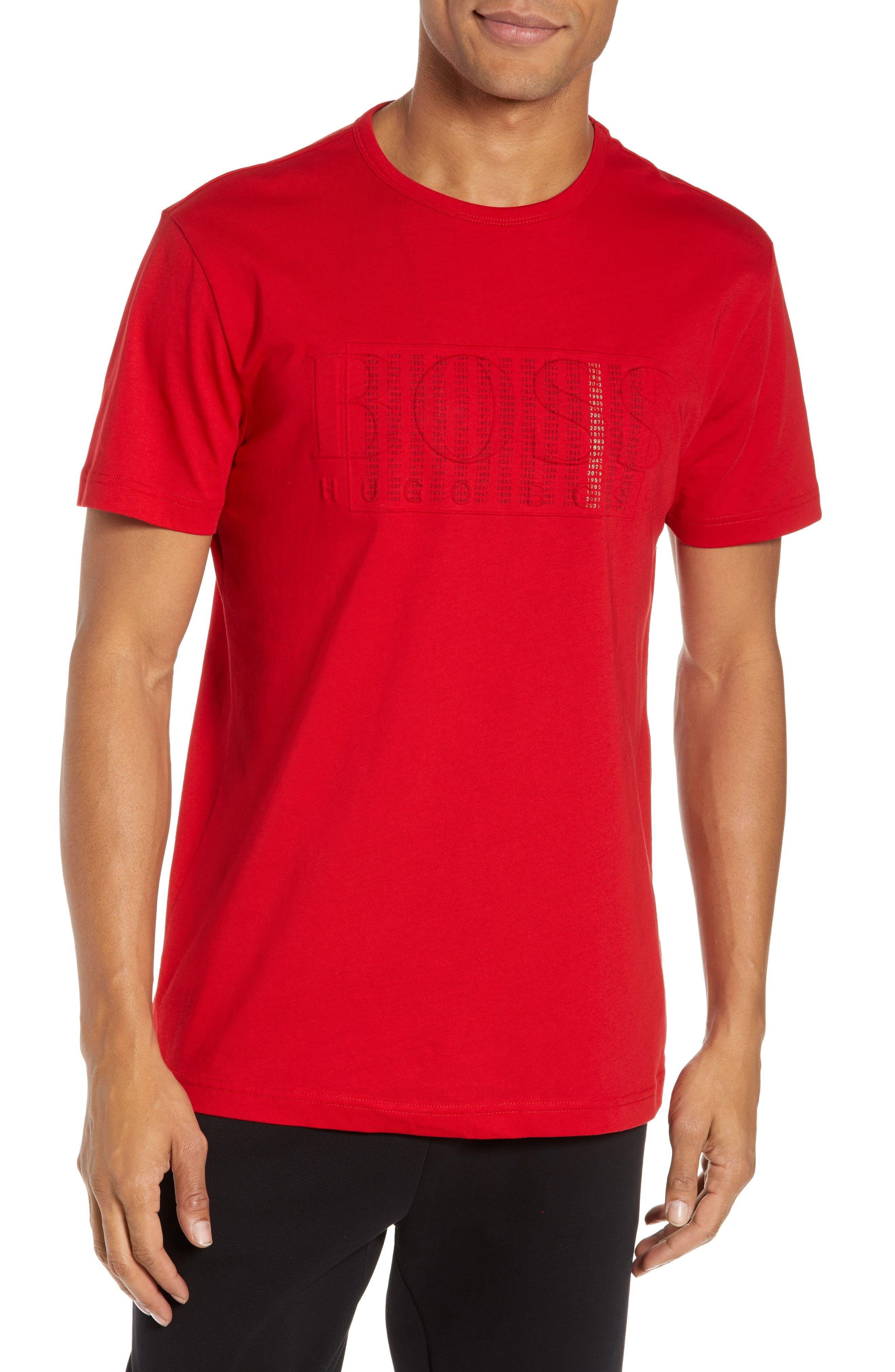 BOSS,                             CNY Regular Fit T-Shirt,                             Main thumbnail 1, color,                             RED
