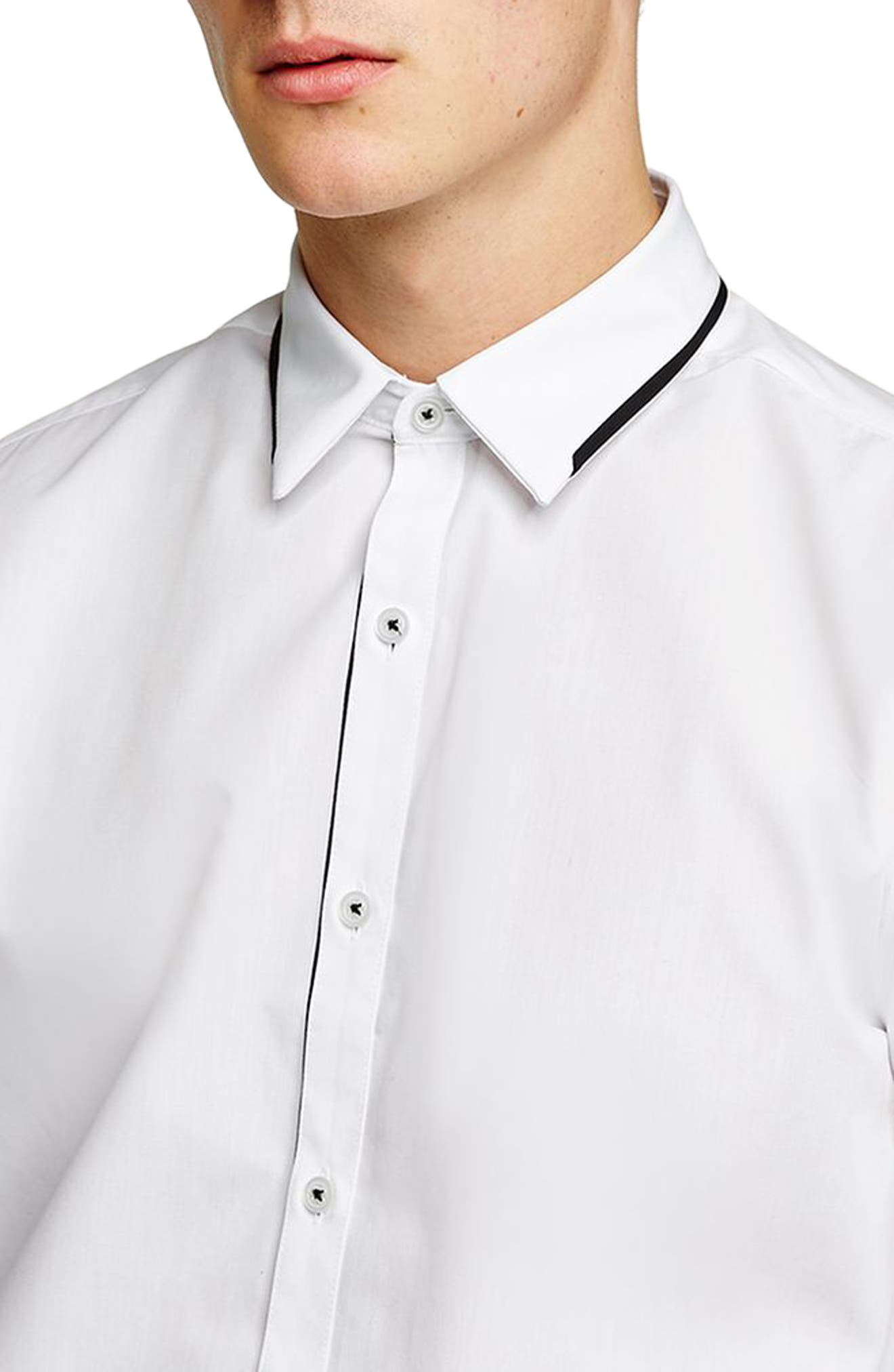 Smart Skinny Fit Dress Shirt,                             Alternate thumbnail 2, color,                             WHITE
