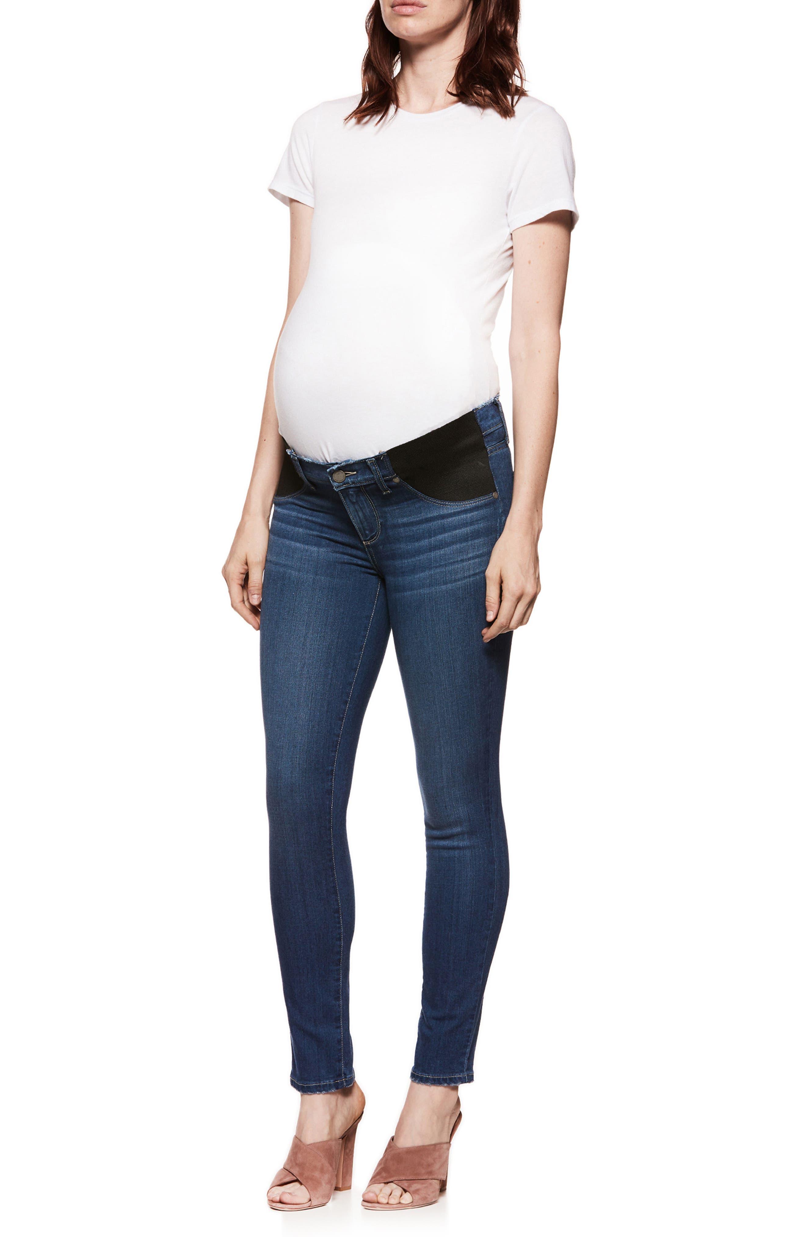 PAIGE,                             Transcend - Verdugo Ultra Skinny Maternity Jeans,                             Alternate thumbnail 3, color,                             400