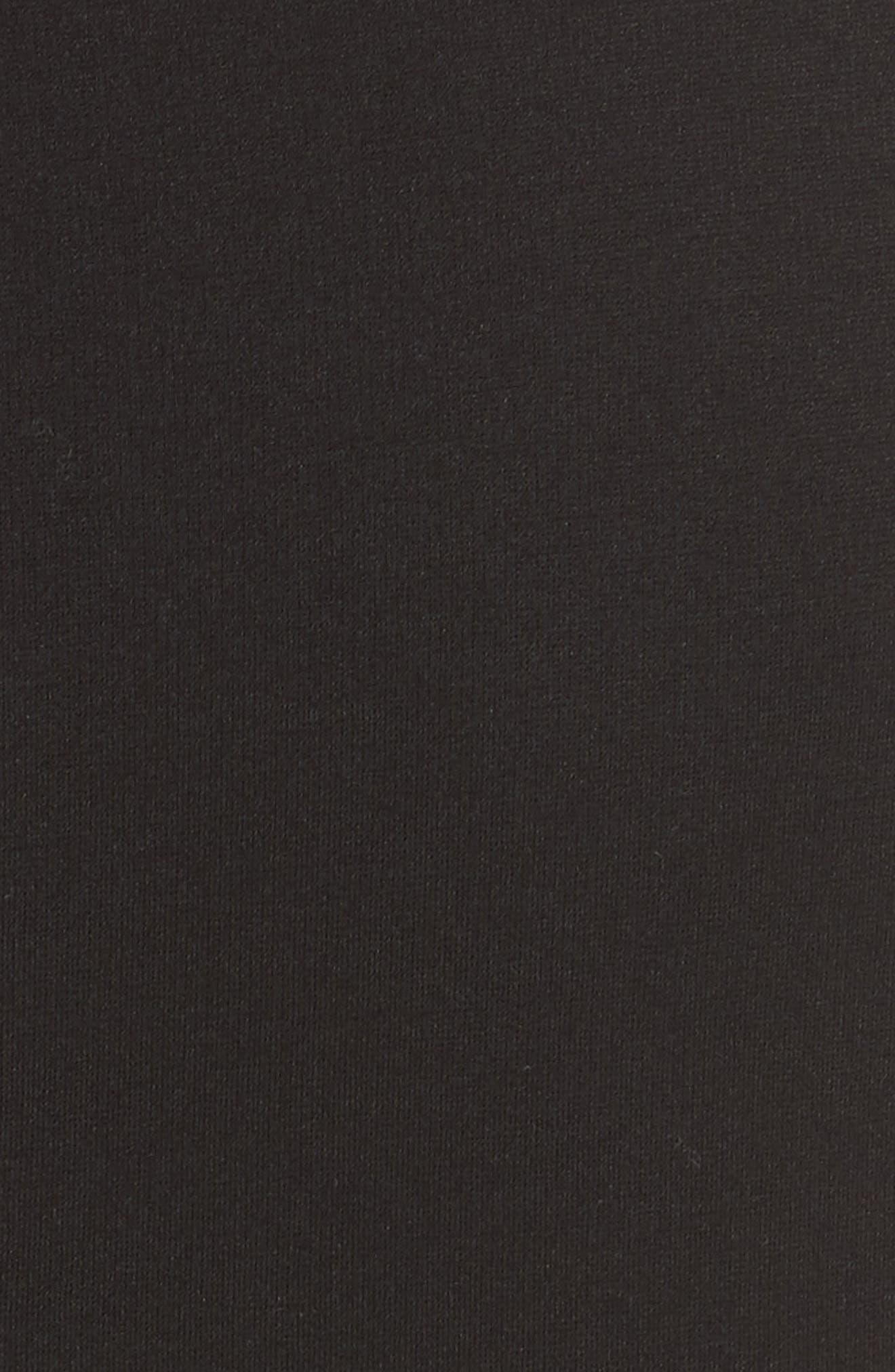 fiorella cutwork hem dress,                             Alternate thumbnail 5, color,                             001