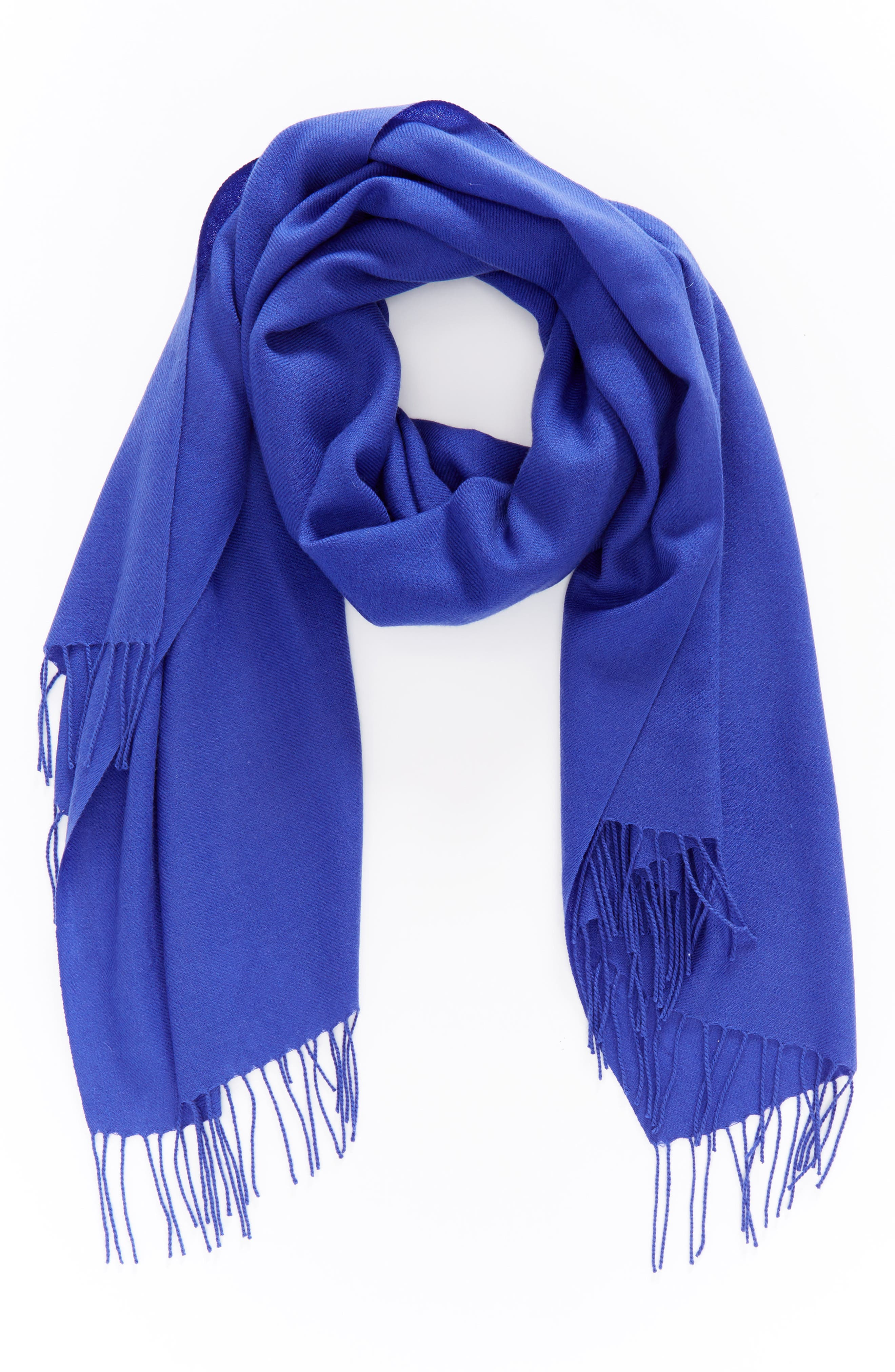Tissue Weight Wool & Cashmere Scarf,                             Alternate thumbnail 74, color,