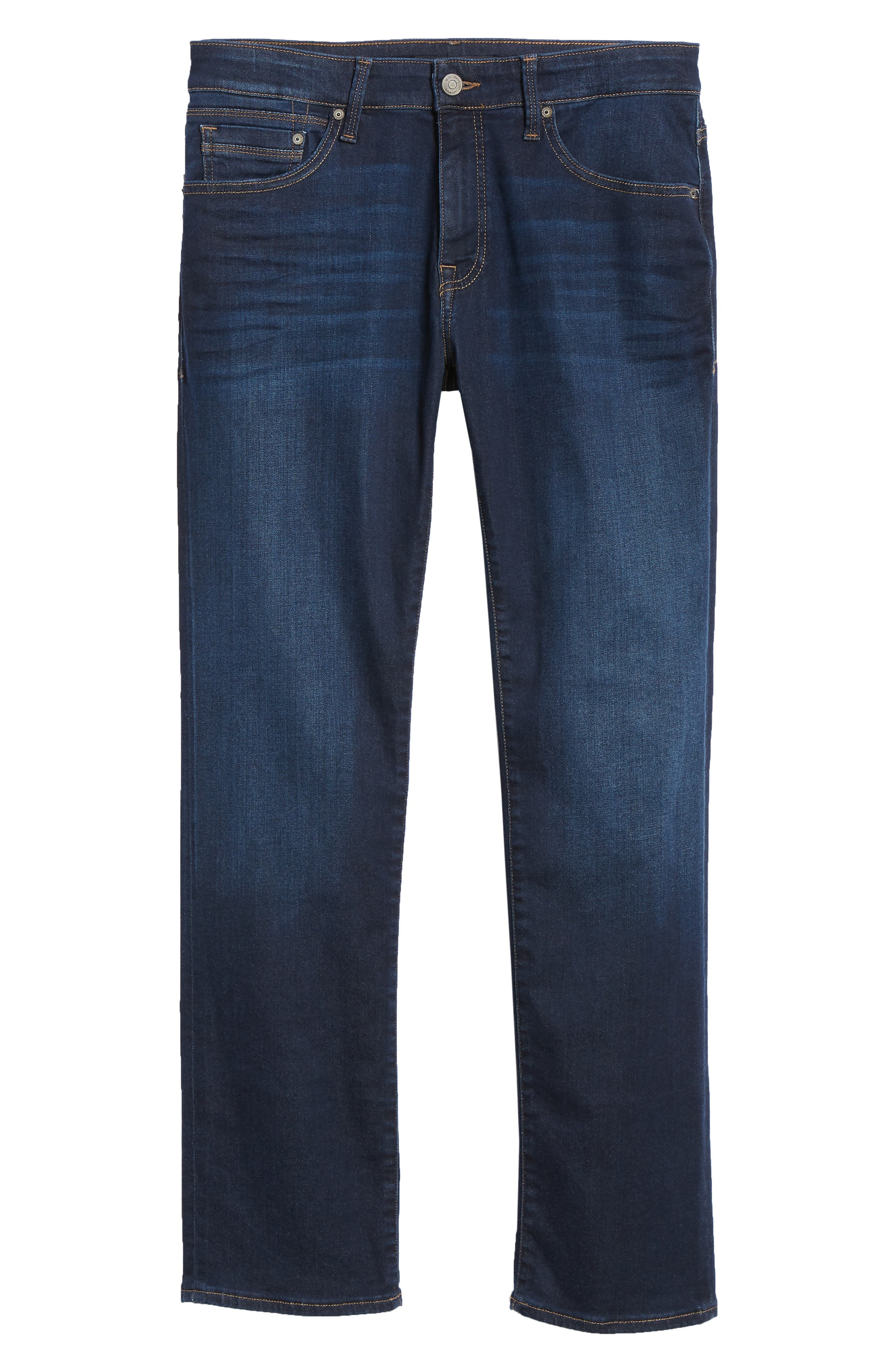 Zach Straight Leg Jeans,                             Alternate thumbnail 6, color,                             DEEP SOFT MOVE