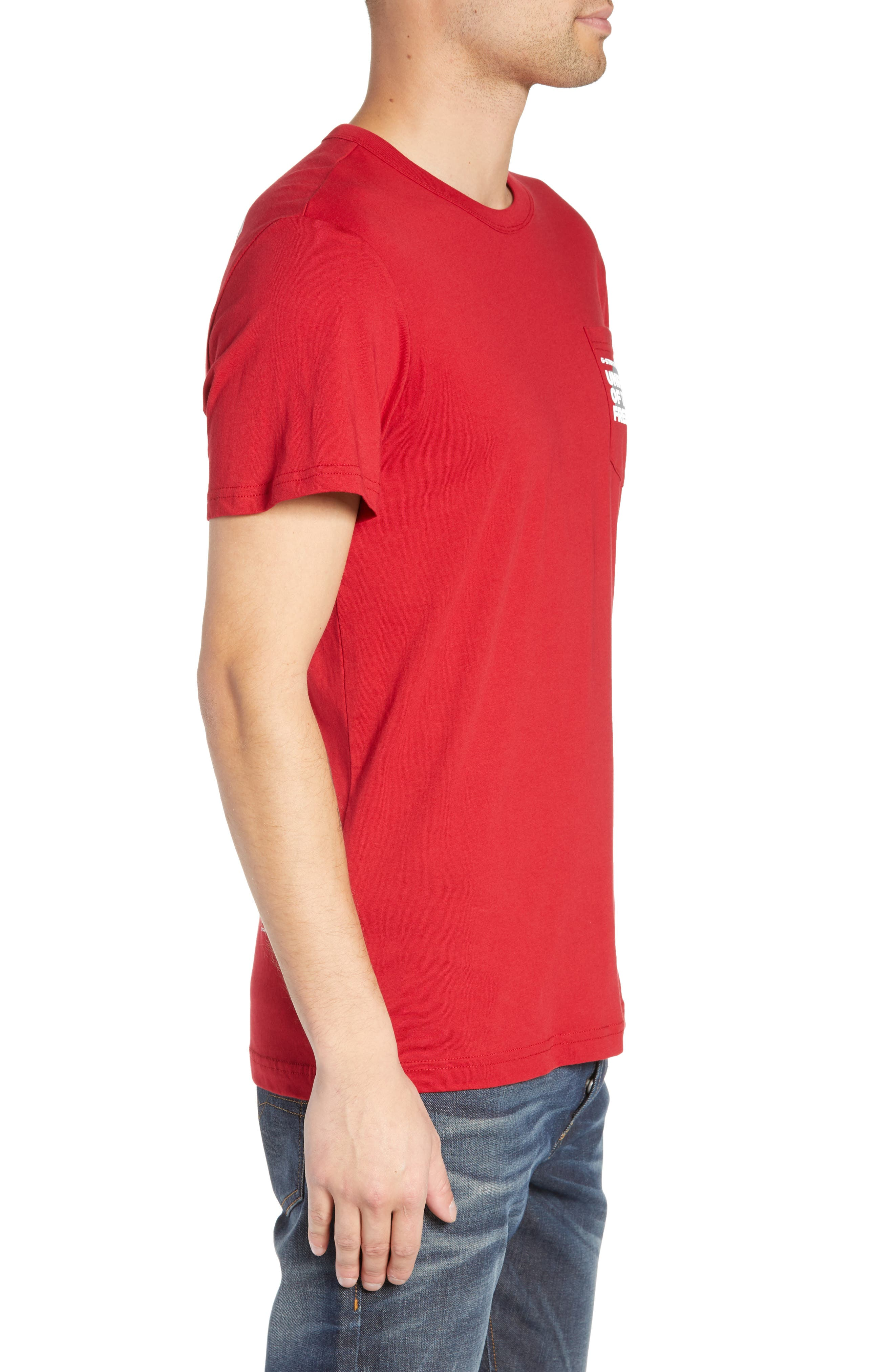 UOTF Pocket T-Shirt,                             Alternate thumbnail 3, color,                             CHILI RED