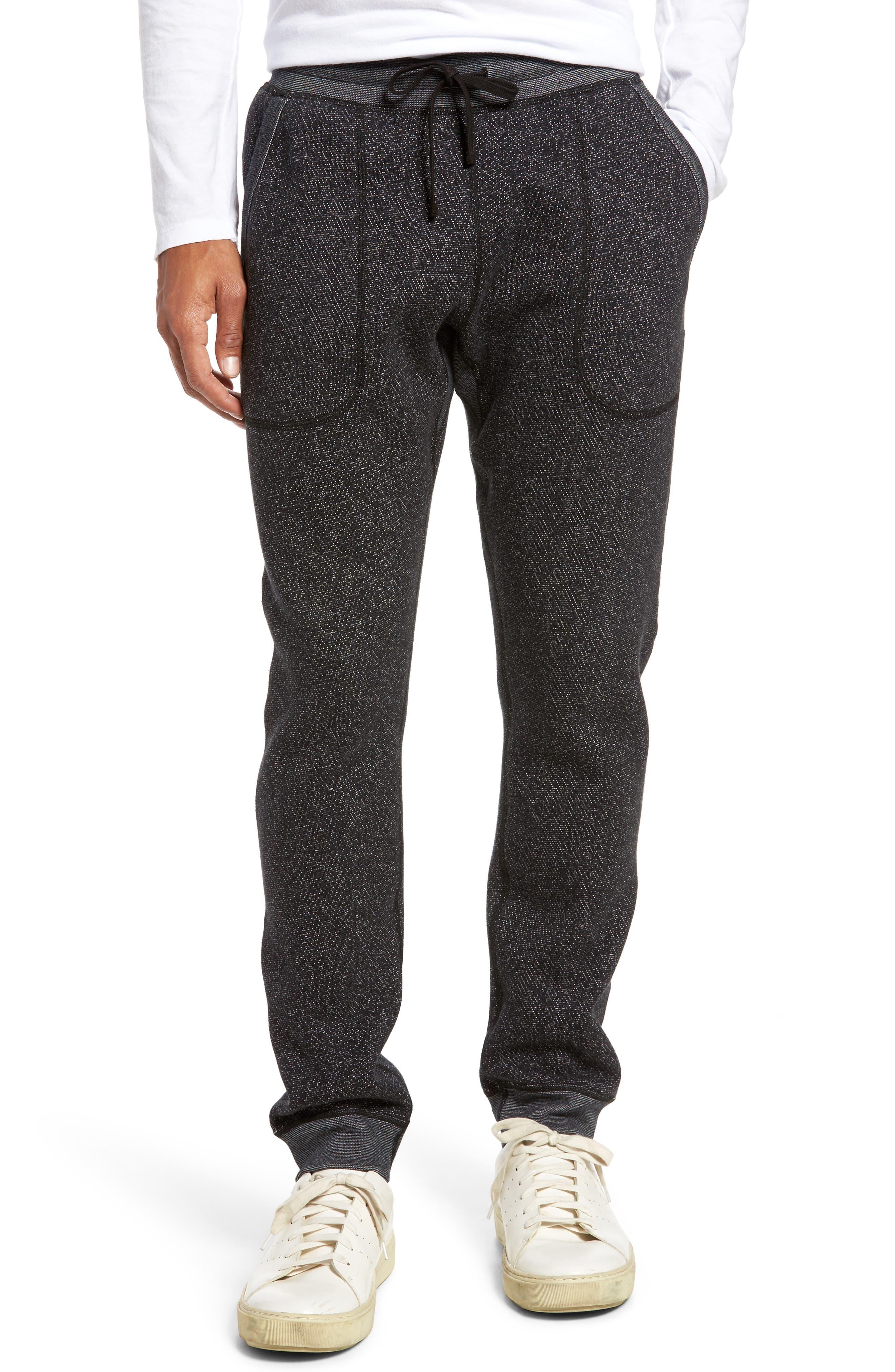 Tiger Slim Jogger Sweatpants,                             Main thumbnail 1, color,                             BLACK