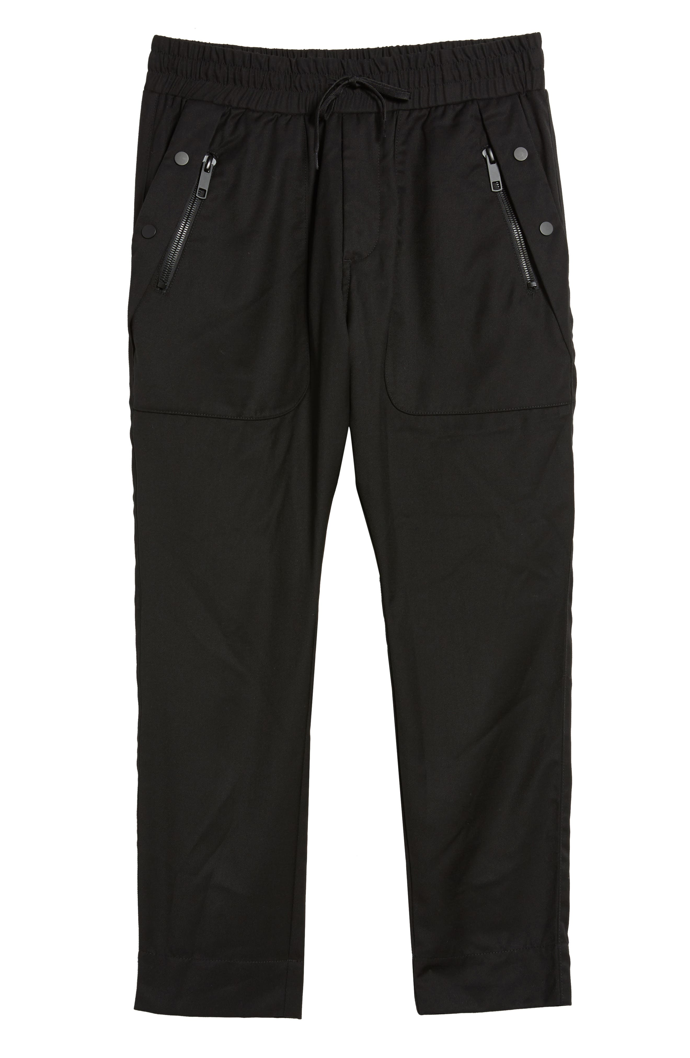Drawstring Zip Pocket Pants,                             Alternate thumbnail 6, color,                             001