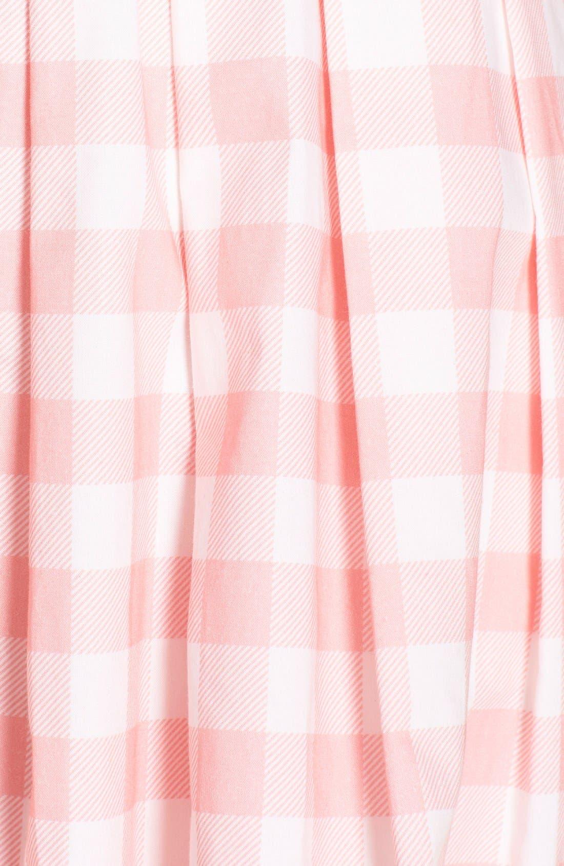 ELIZA J,                             Check Cotton Poplin Shirtdress,                             Alternate thumbnail 6, color,                             660