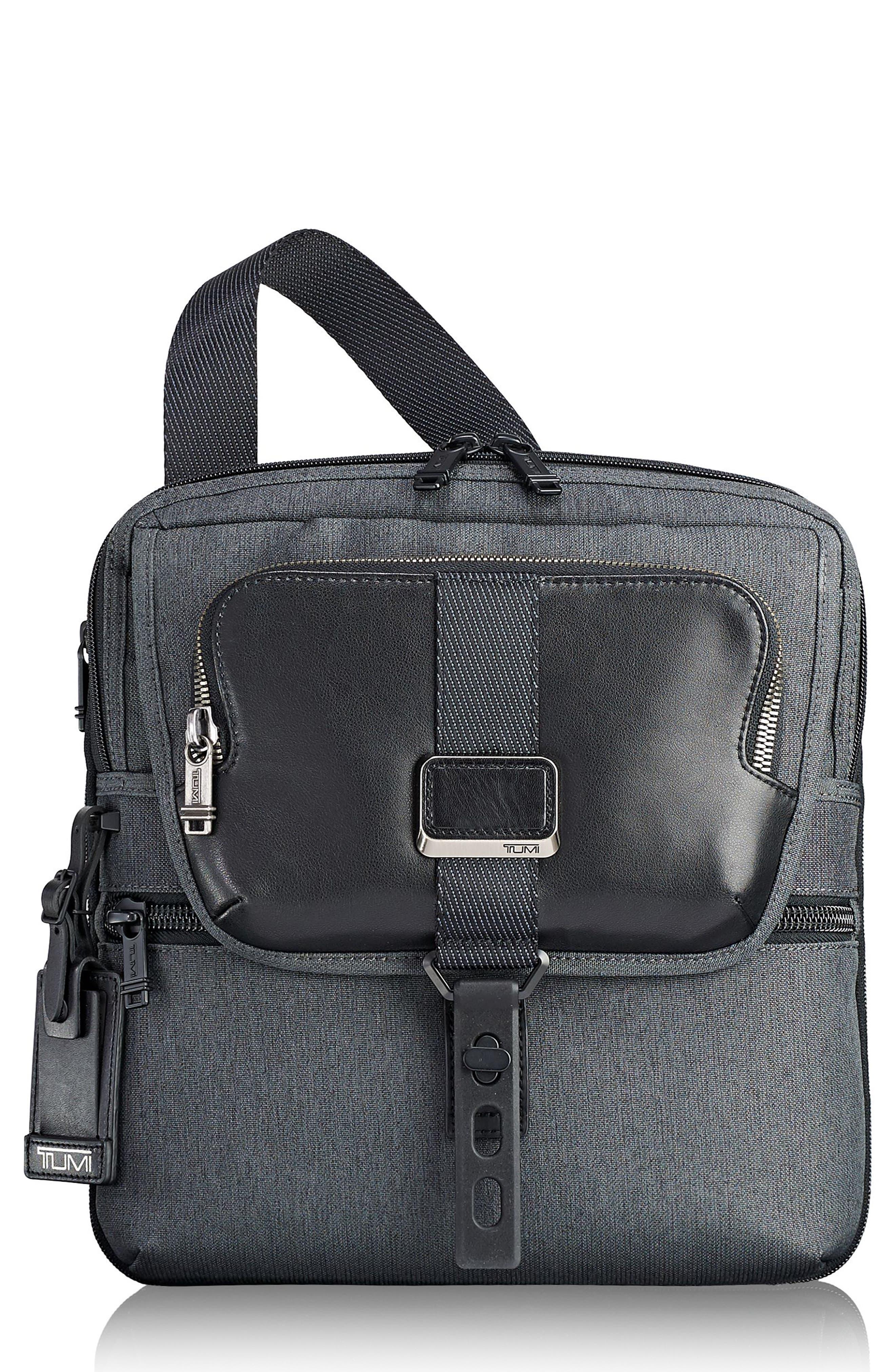 TUMI Alpha Bravo - Arnold Messenger Bag, Main, color, ANTHRACITE