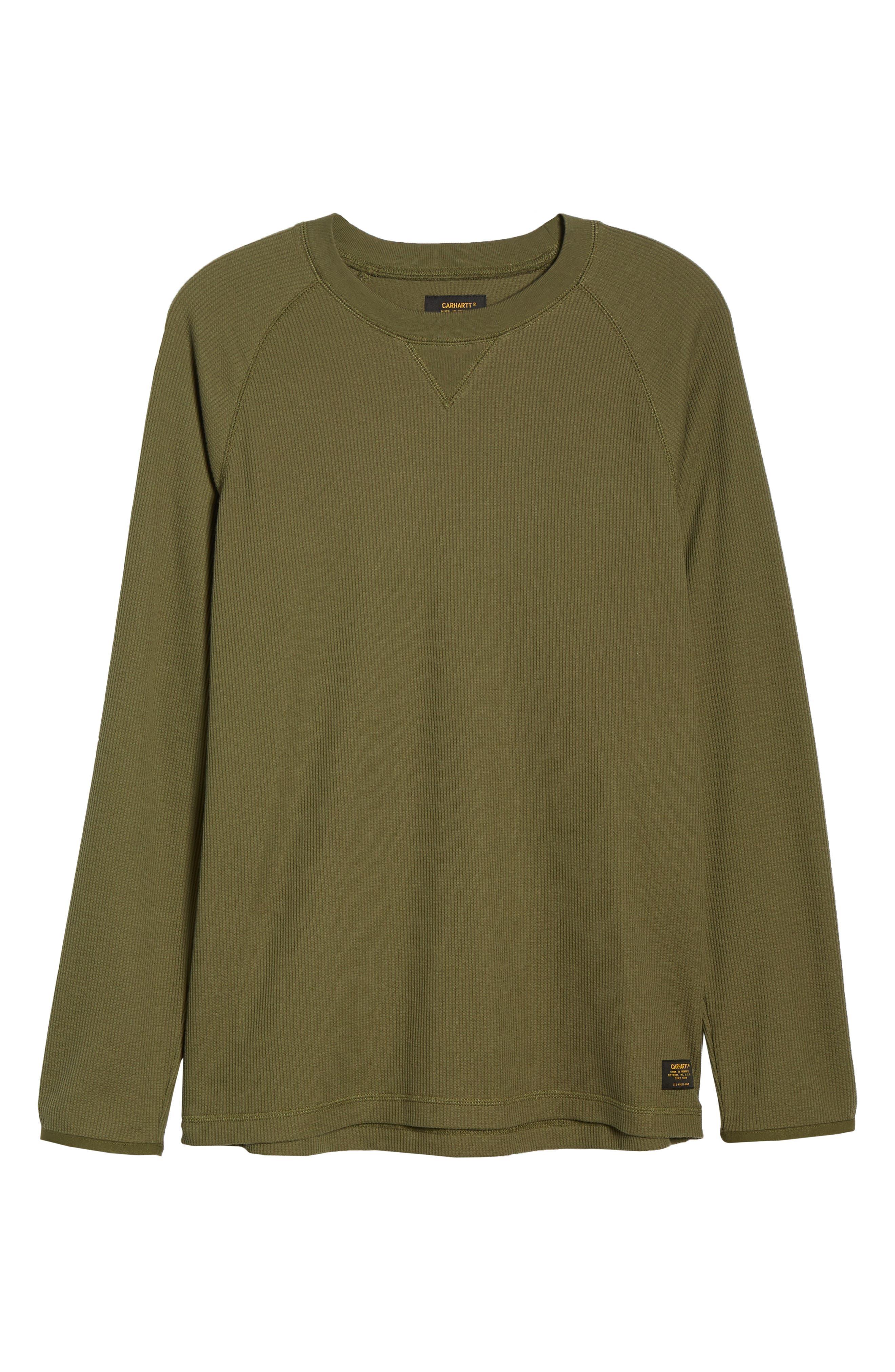 Leeward Thermal Long Sleeve T-Shirt,                             Alternate thumbnail 6, color,                             ROVER GREEN