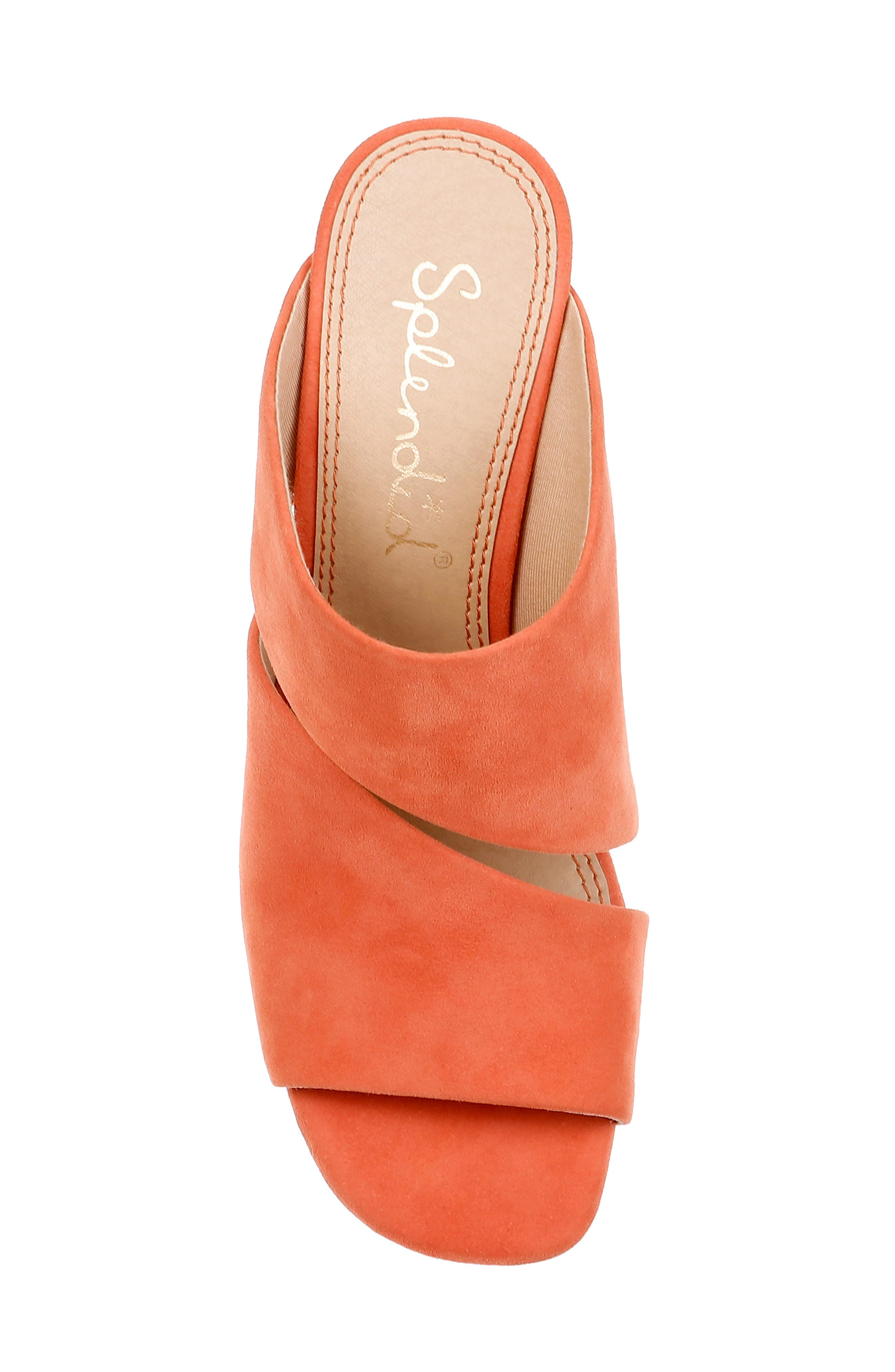 Serenade Sandal,                             Alternate thumbnail 5, color,                             ORANGE SUEDE
