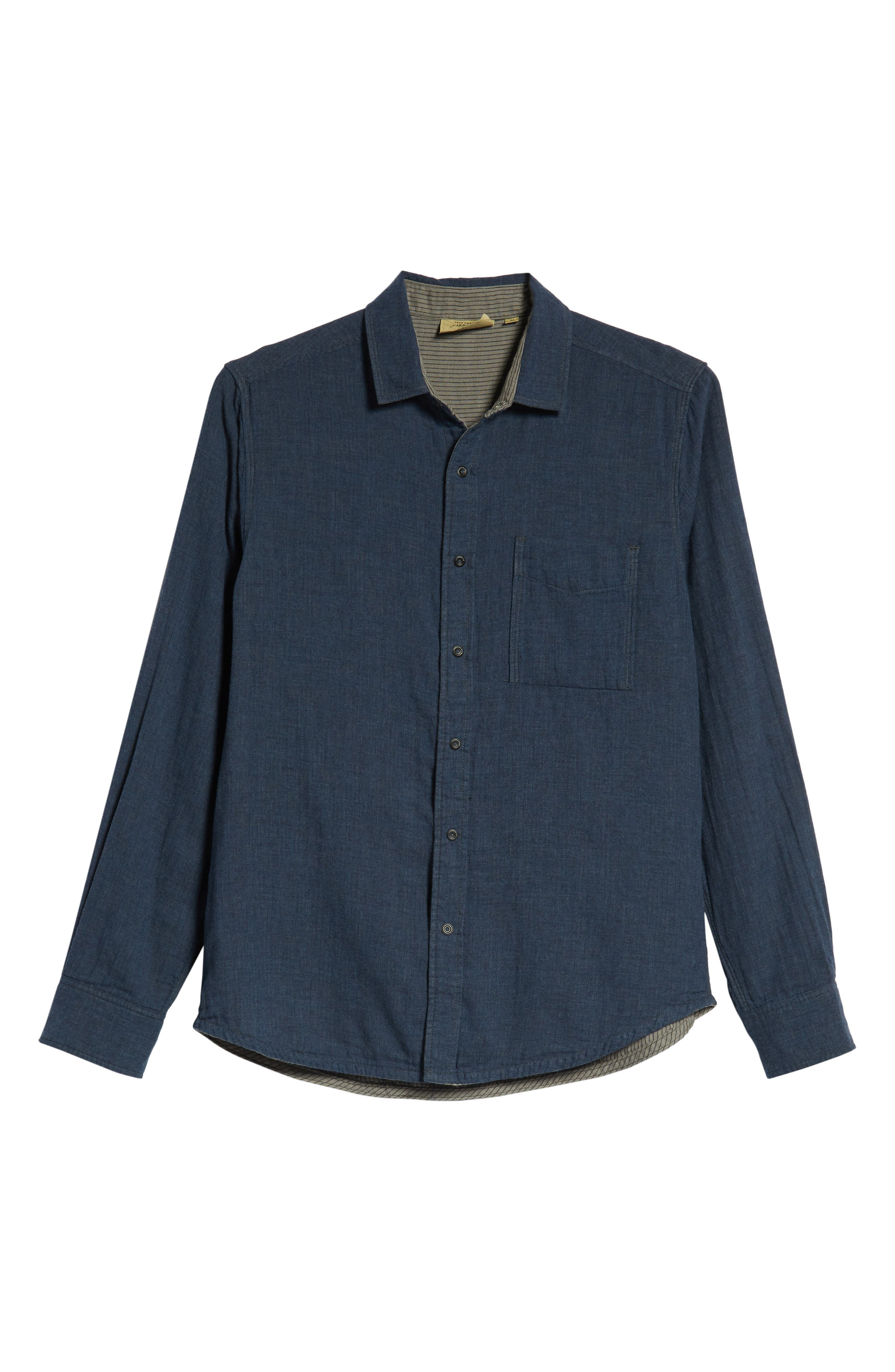 Howler Regular Fit Reversible Sport Shirt,                             Alternate thumbnail 6, color,                             LEGION BLUE HEATHER