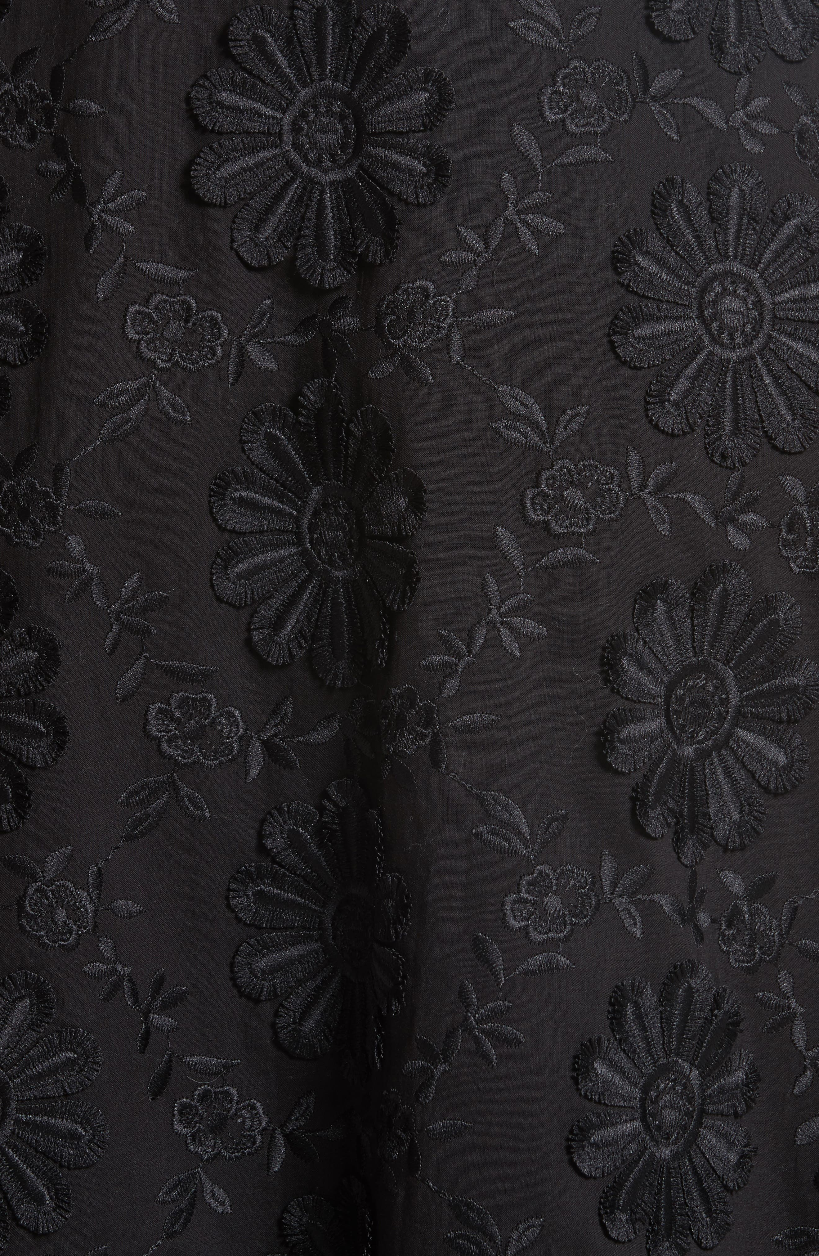 Floral Embroidered Dress,                             Alternate thumbnail 5, color,                             001