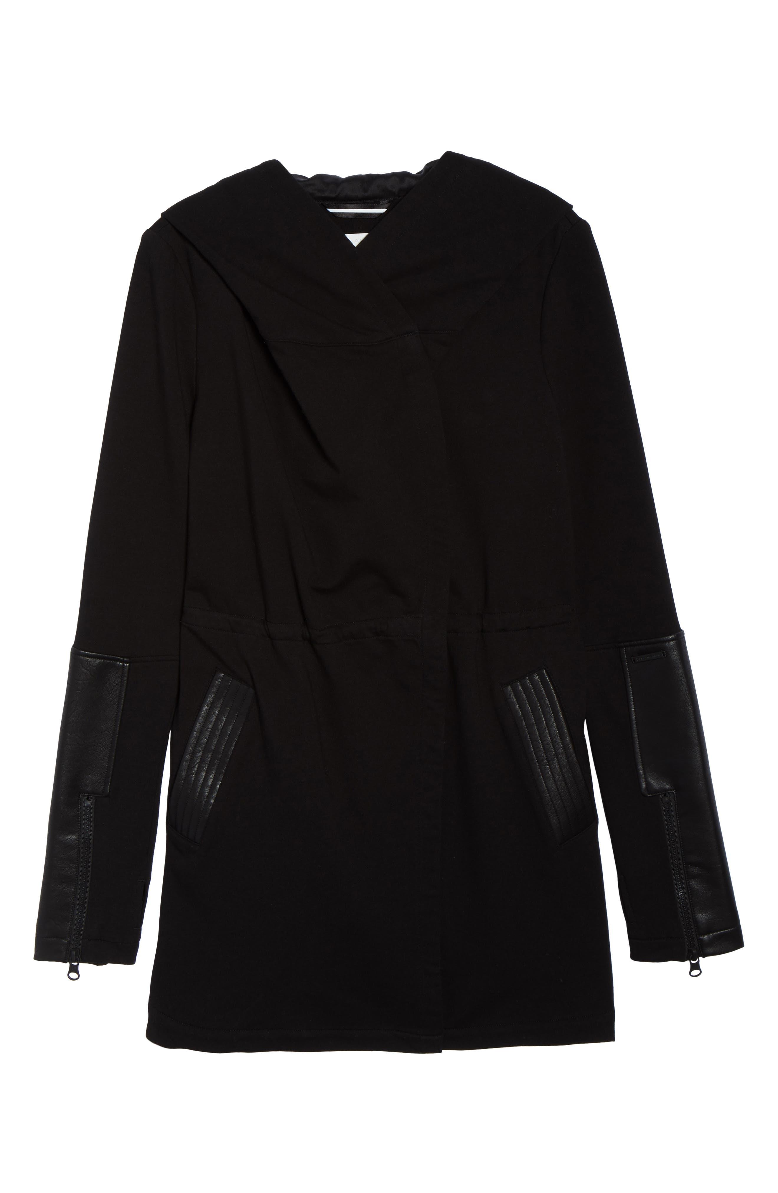 Traveler Wrap Jacket,                             Alternate thumbnail 6, color,                             BLACK/ BLACK