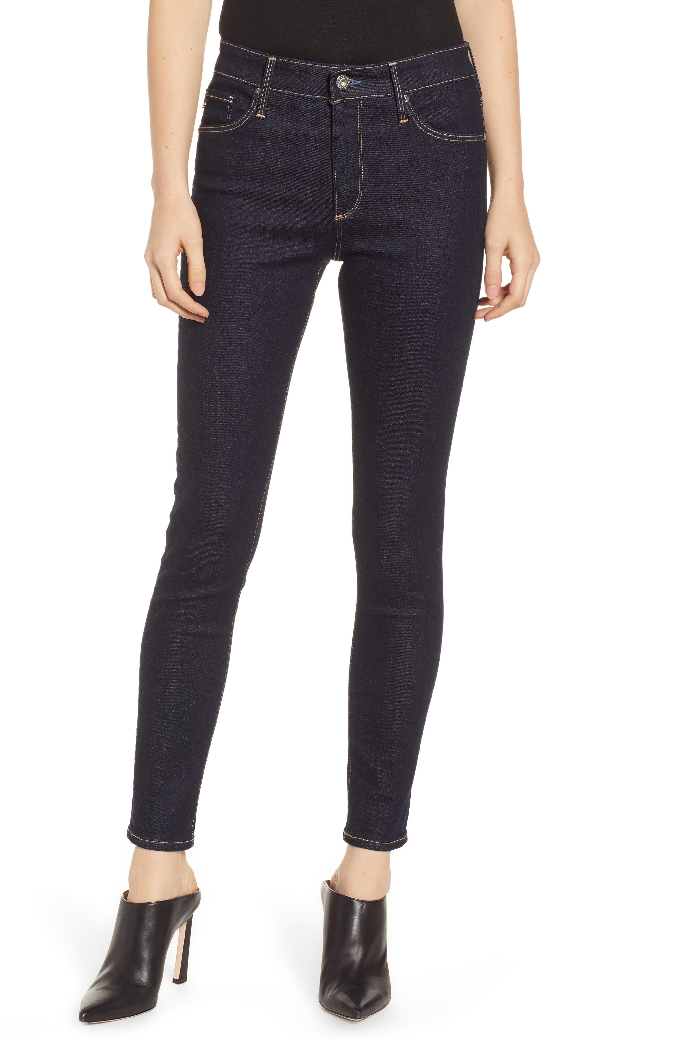 The Farrah Ankle Skinny Jeans,                         Main,                         color, INDIGO SPRING