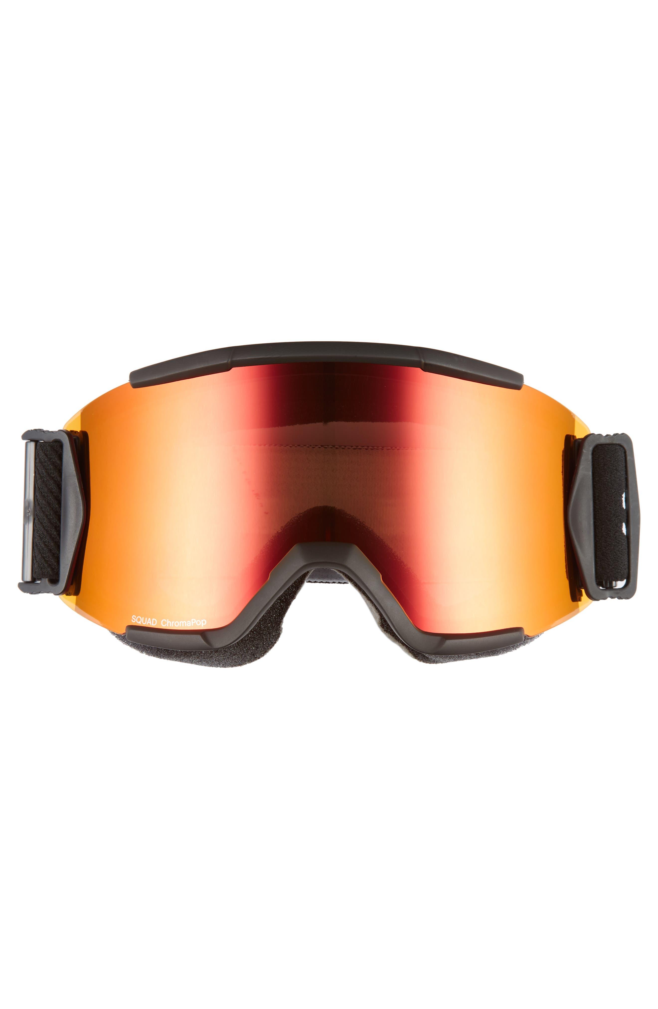 Squad Chromapop 165mm Snow Goggles,                             Alternate thumbnail 2, color,                             BLACK