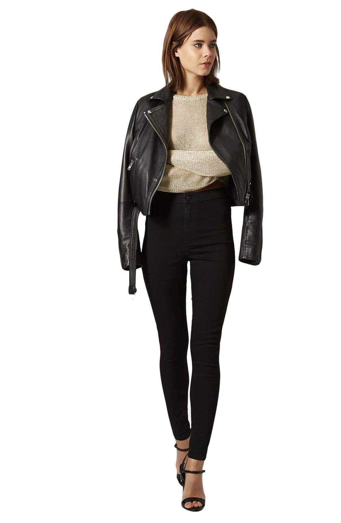 Joni High Waist Skinny Jeans,                             Main thumbnail 1, color,                             BLACK