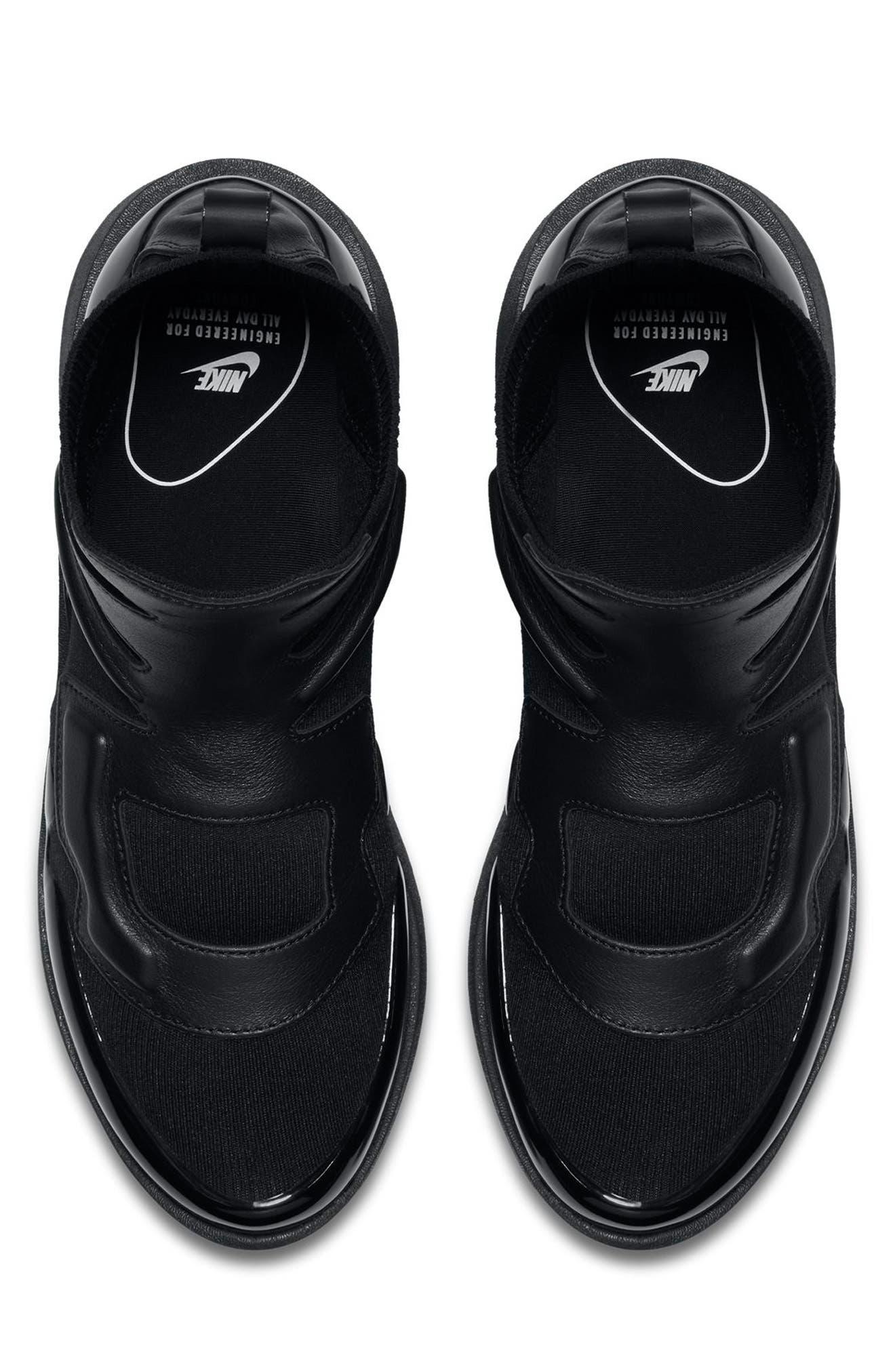 Air Vapormax Light II Sneaker,                             Alternate thumbnail 4, color,                             BLACK/ BLACK
