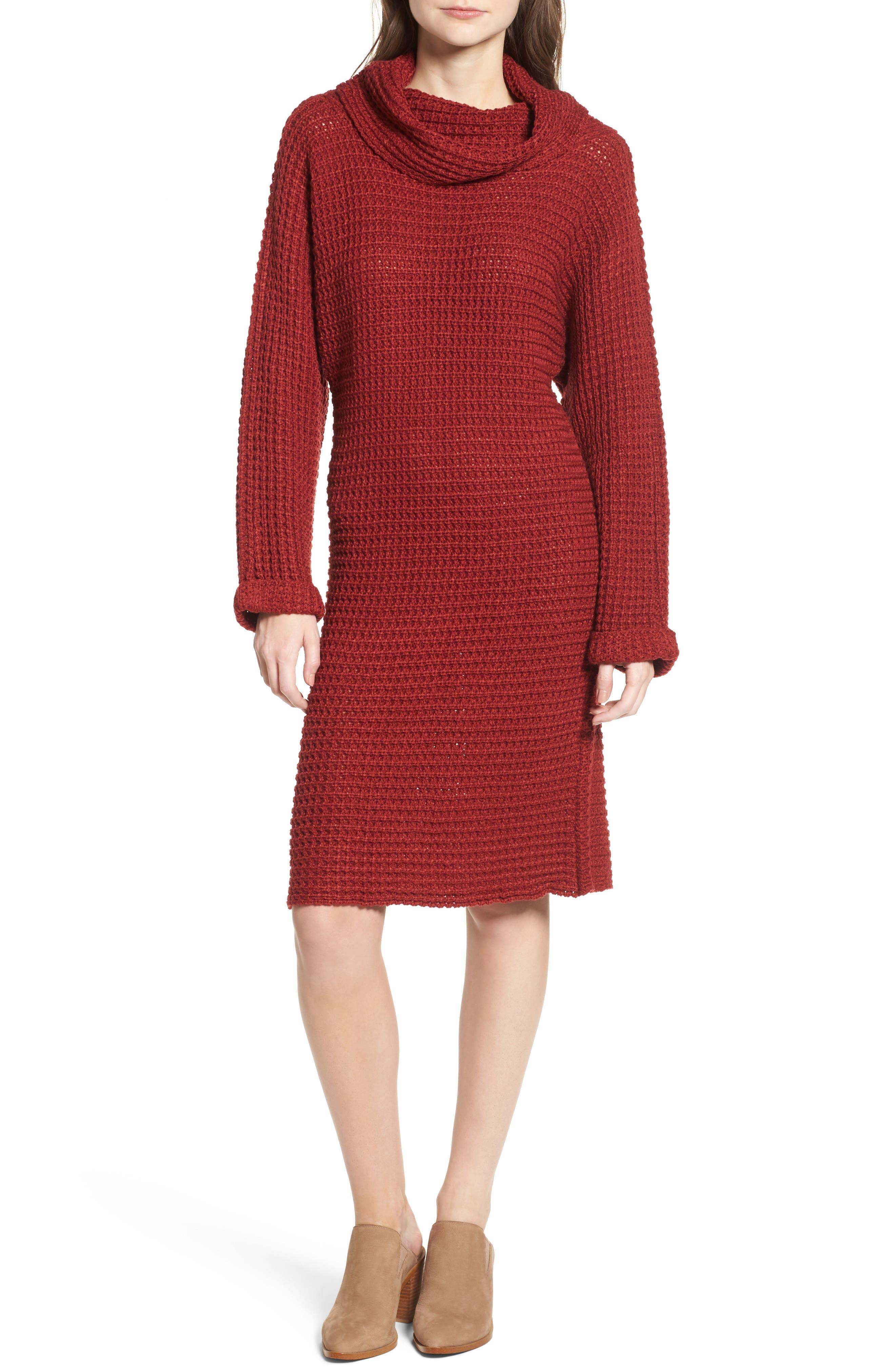 Turtleneck Sweater Dress,                             Main thumbnail 2, color,