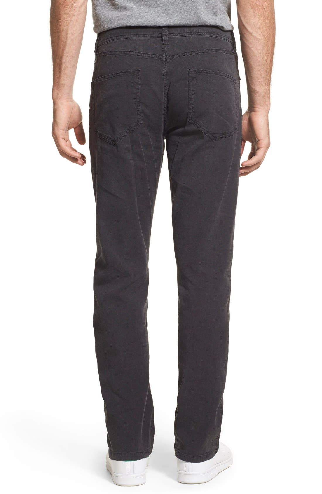 Straight Leg Five-Pocket Pants,                             Alternate thumbnail 8, color,                             CARBON PIGMENT