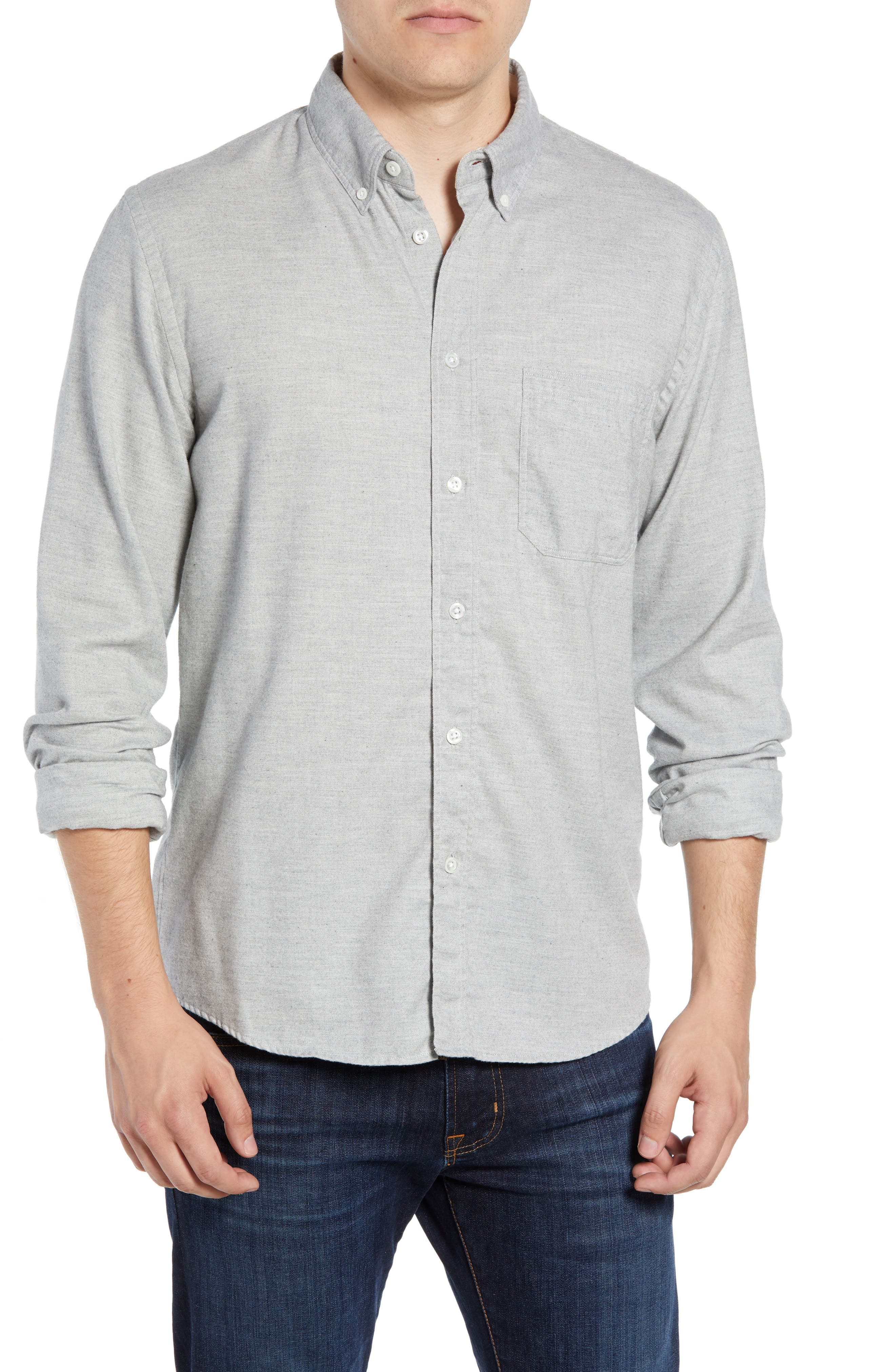 Tuscumbia Regular Fit Sport Shirt,                             Main thumbnail 1, color,                             LIGHT GREY