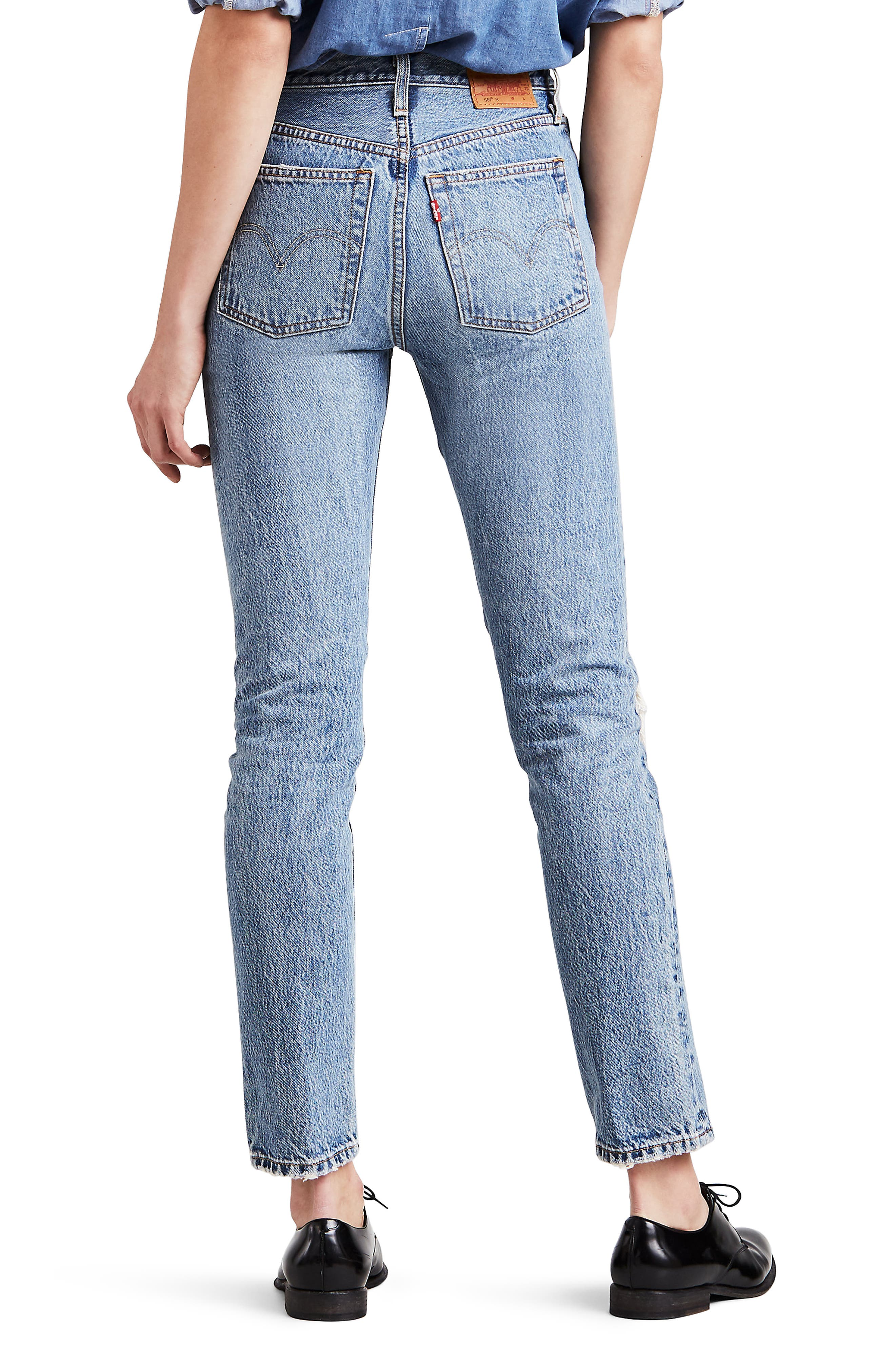 501<sup>®</sup> Distressed Skinny Jeans,                             Alternate thumbnail 2, color,                             420