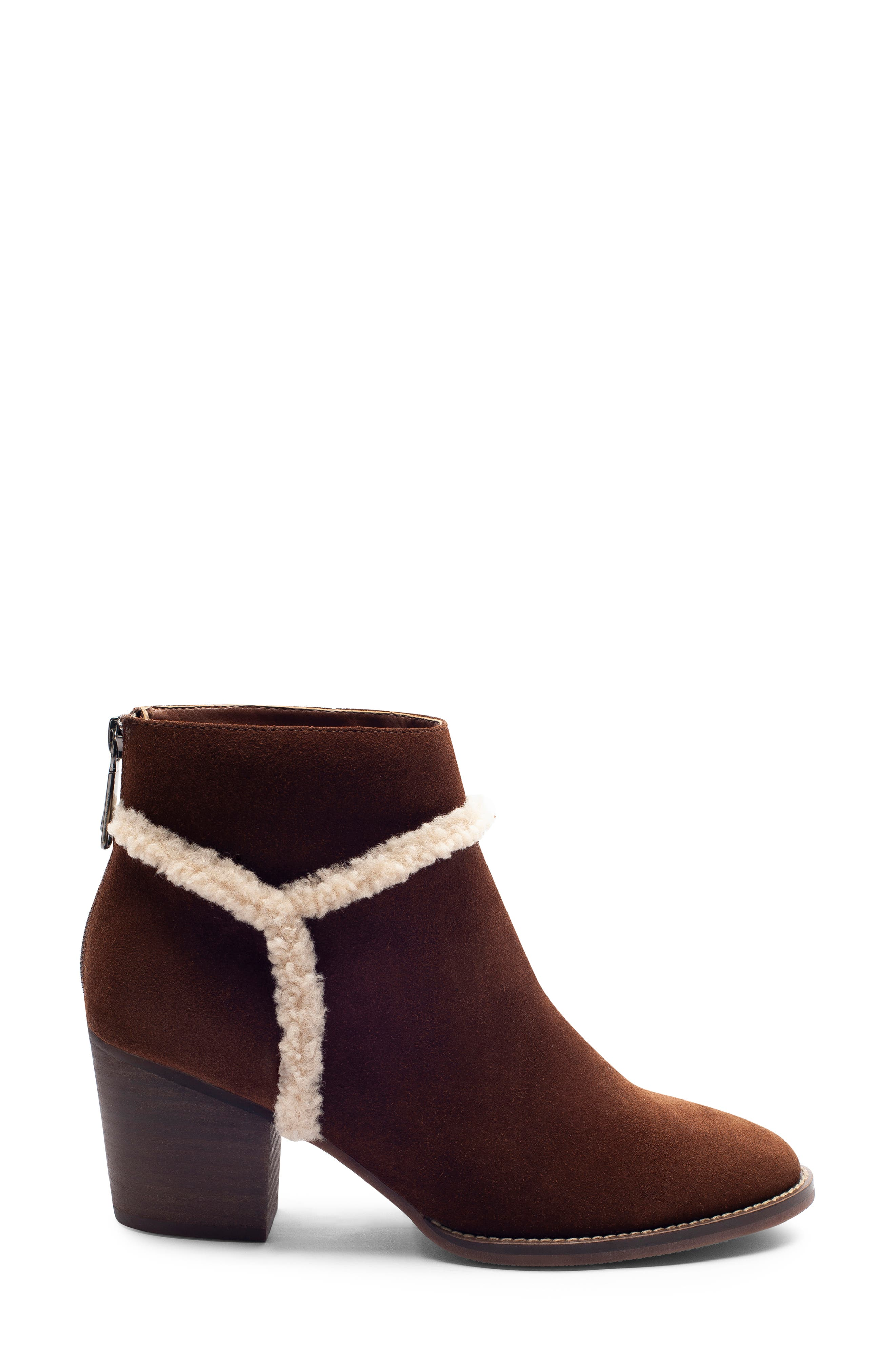 Netti Waterproof Bootie,                             Alternate thumbnail 3, color,                             CHESTNUT SUEDE