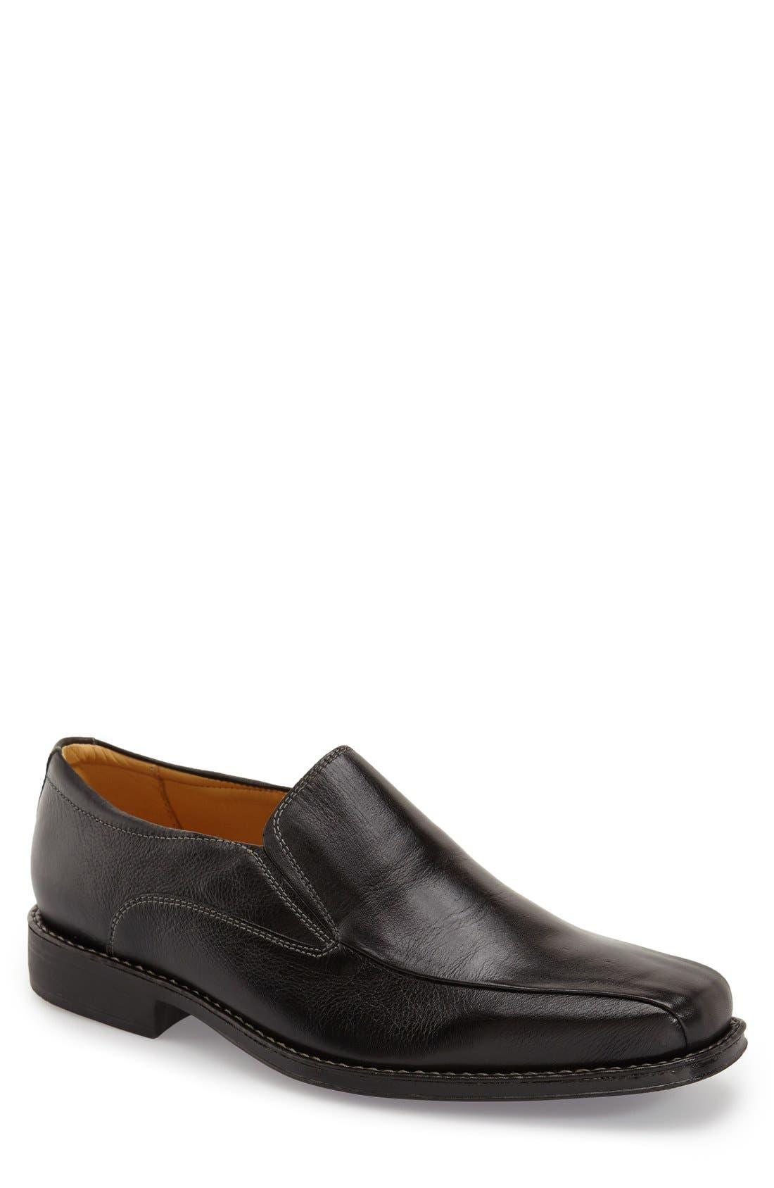'Jacobs Venetian' Slip-On,                         Main,                         color, BLACK/ BLACK