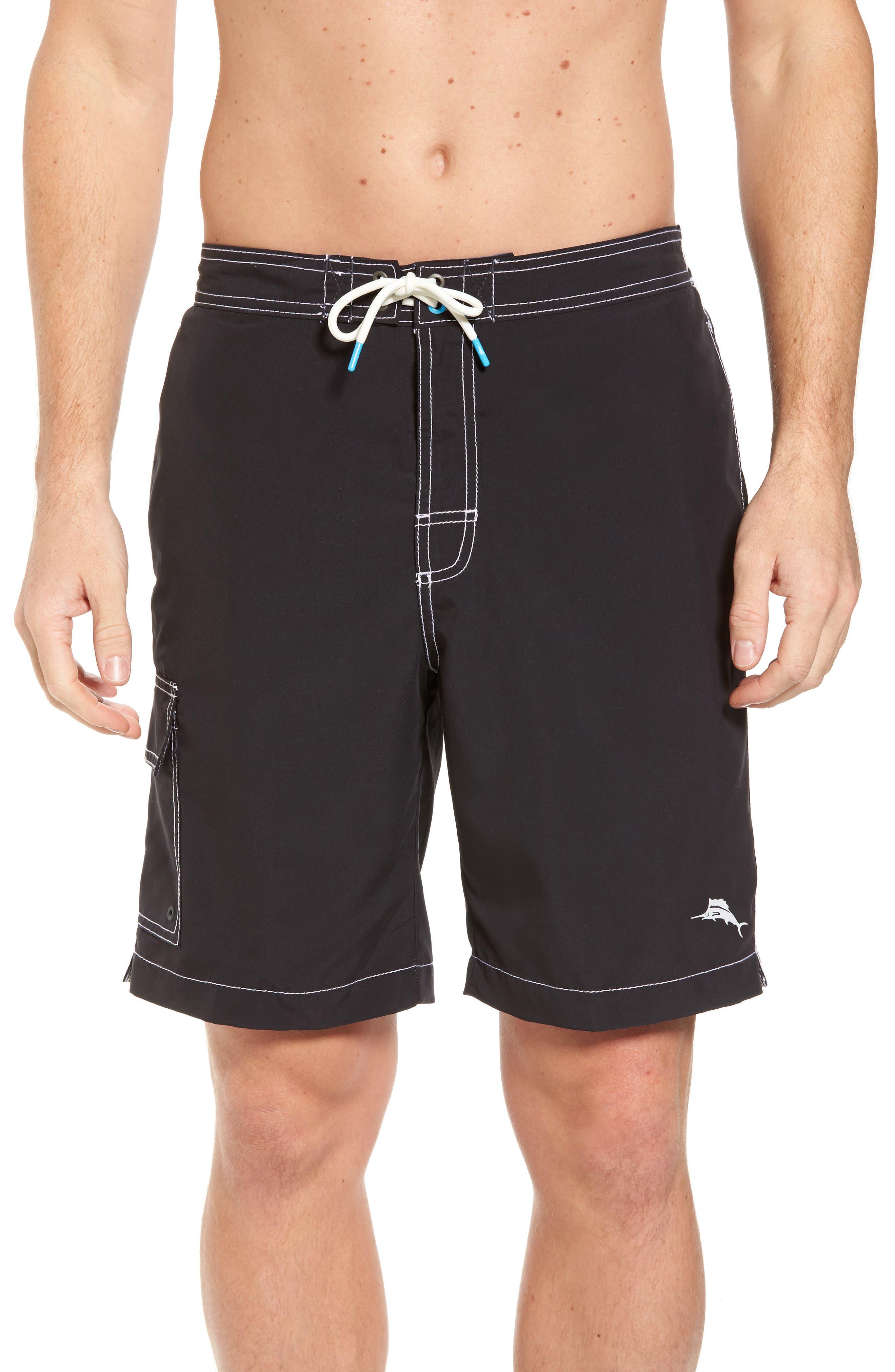 Baja Beach Board Shorts,                         Main,                         color, BLACK