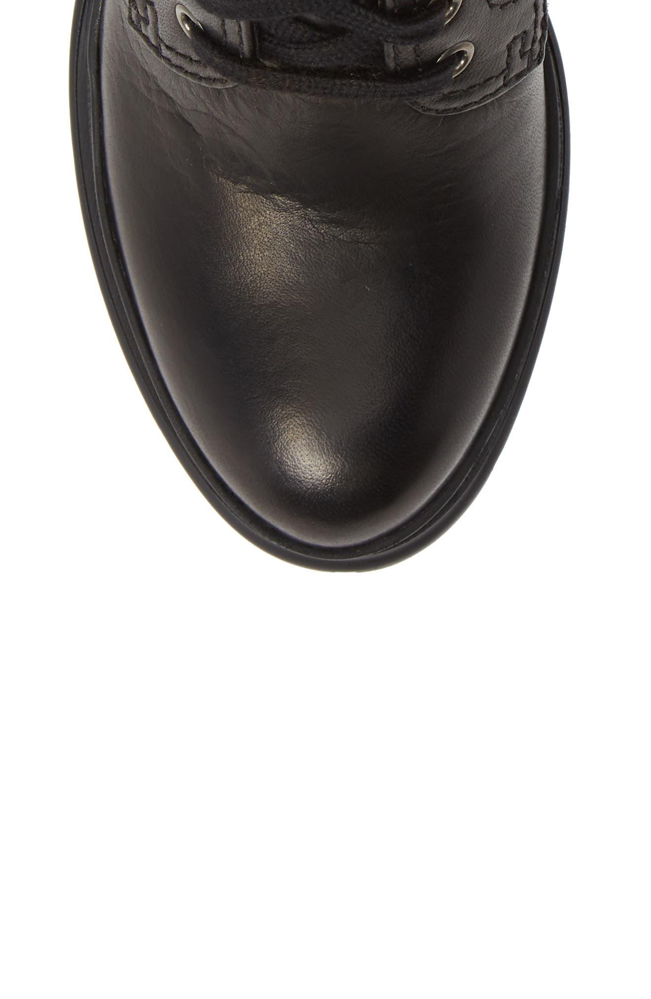 Block Heel Combat Boot,                             Alternate thumbnail 5, color,
