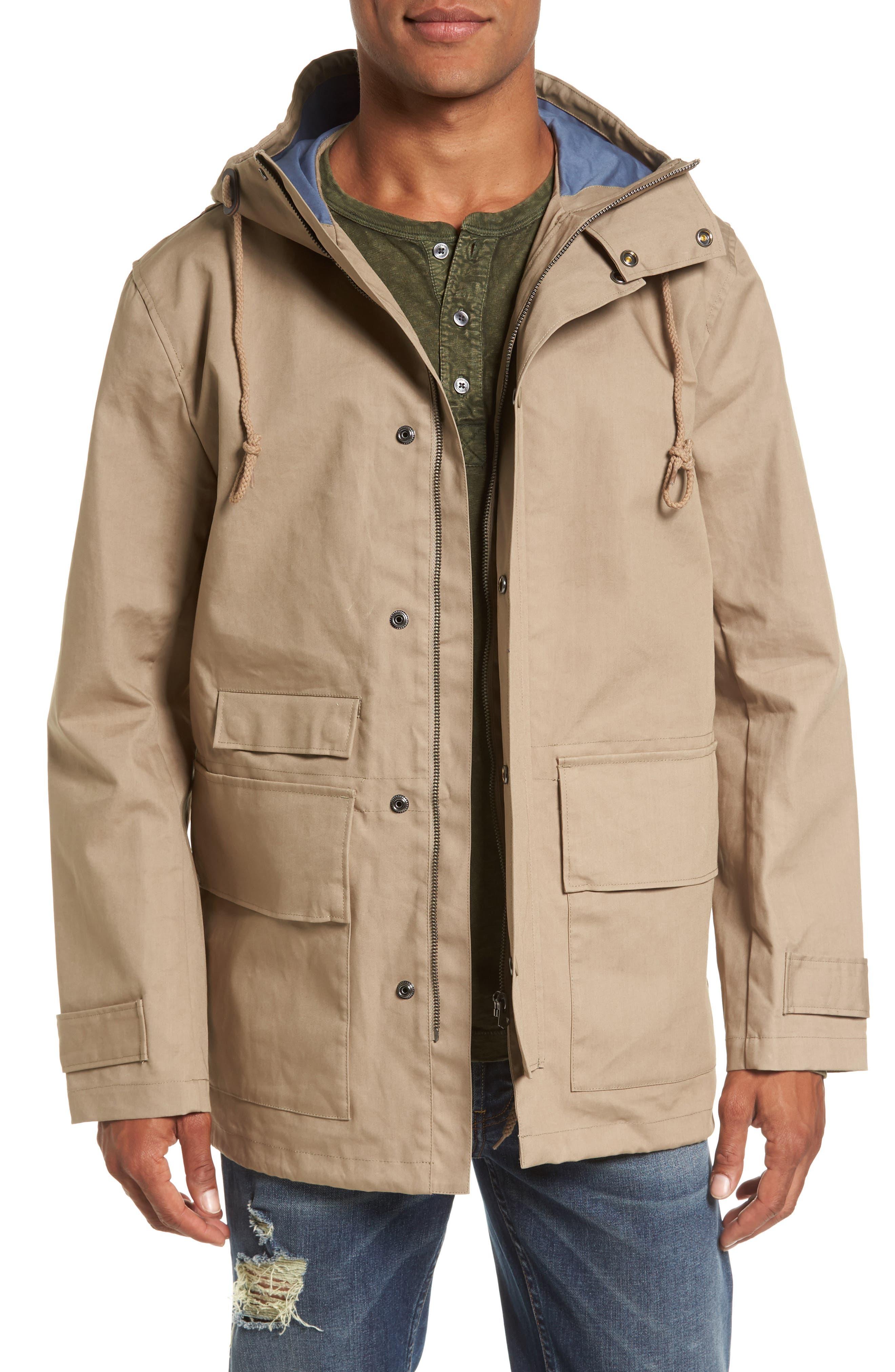 Regular Fit Hooded Rain Jacket,                             Main thumbnail 1, color,                             273