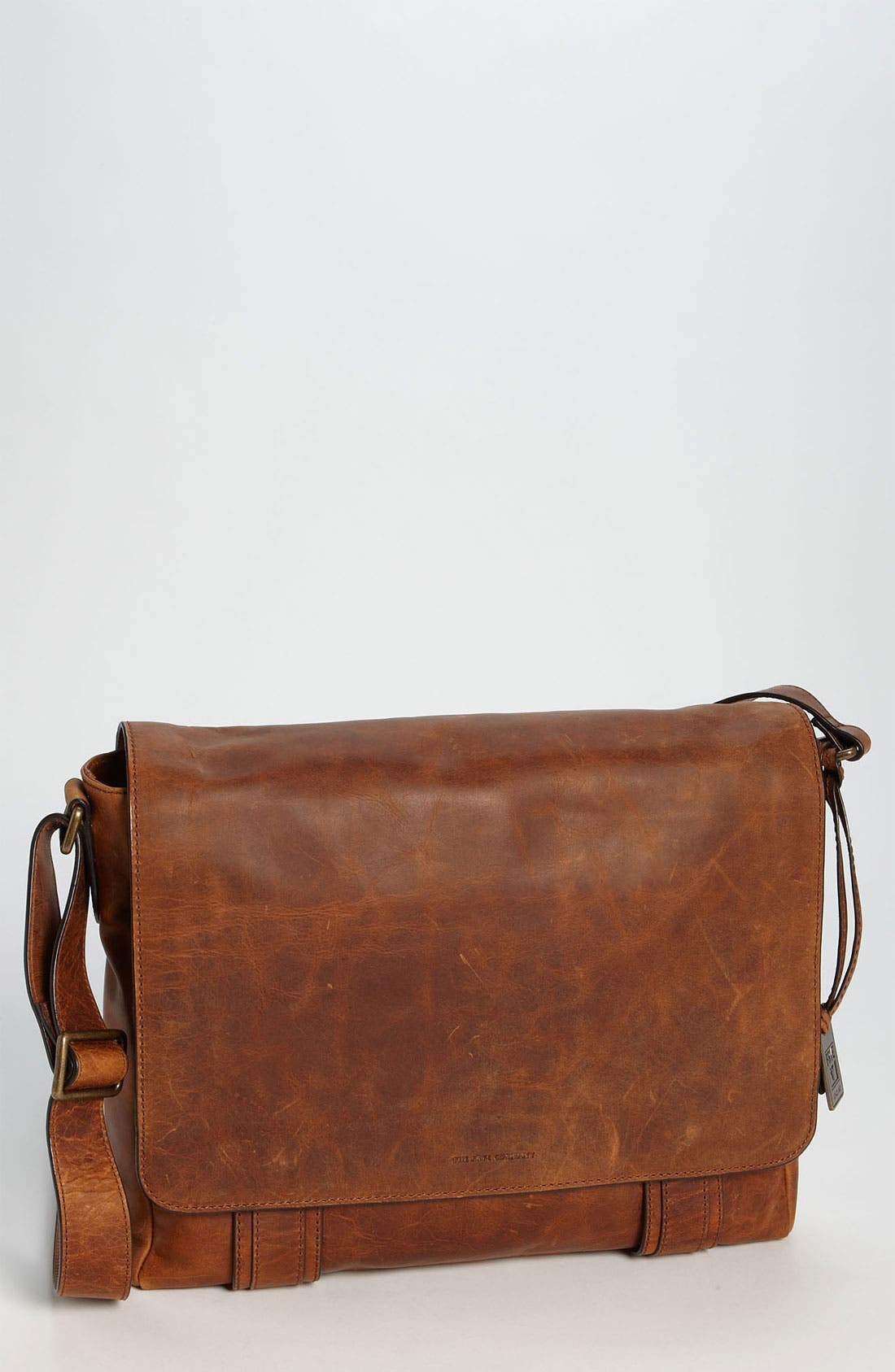 FRYE 'Logan' Messenger Bag - Brown in Antique Cognac