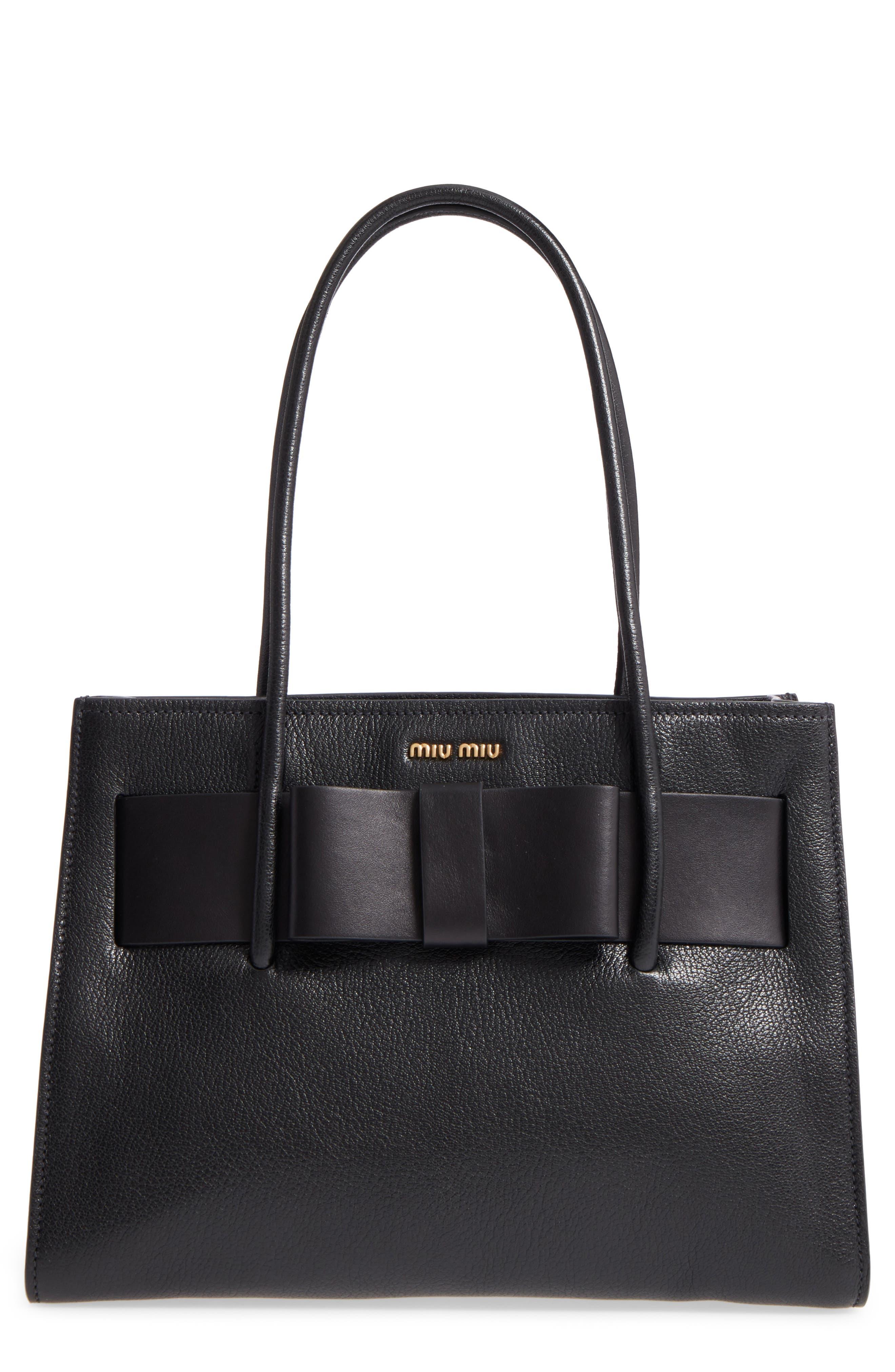 Leather Shopper,                         Main,                         color, 001