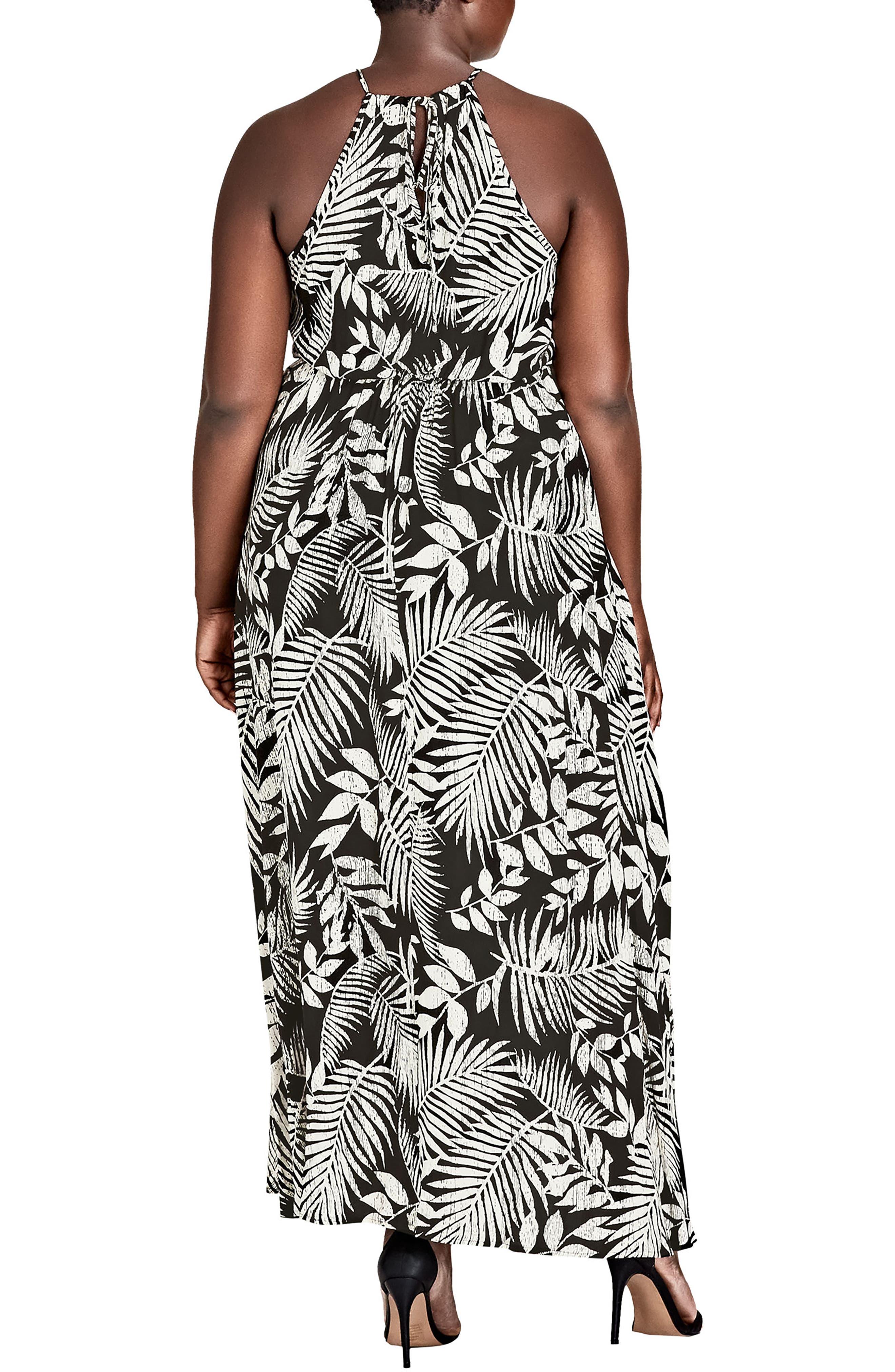 Palm Play Maxi Dress,                             Alternate thumbnail 2, color,                             PALM PLAY