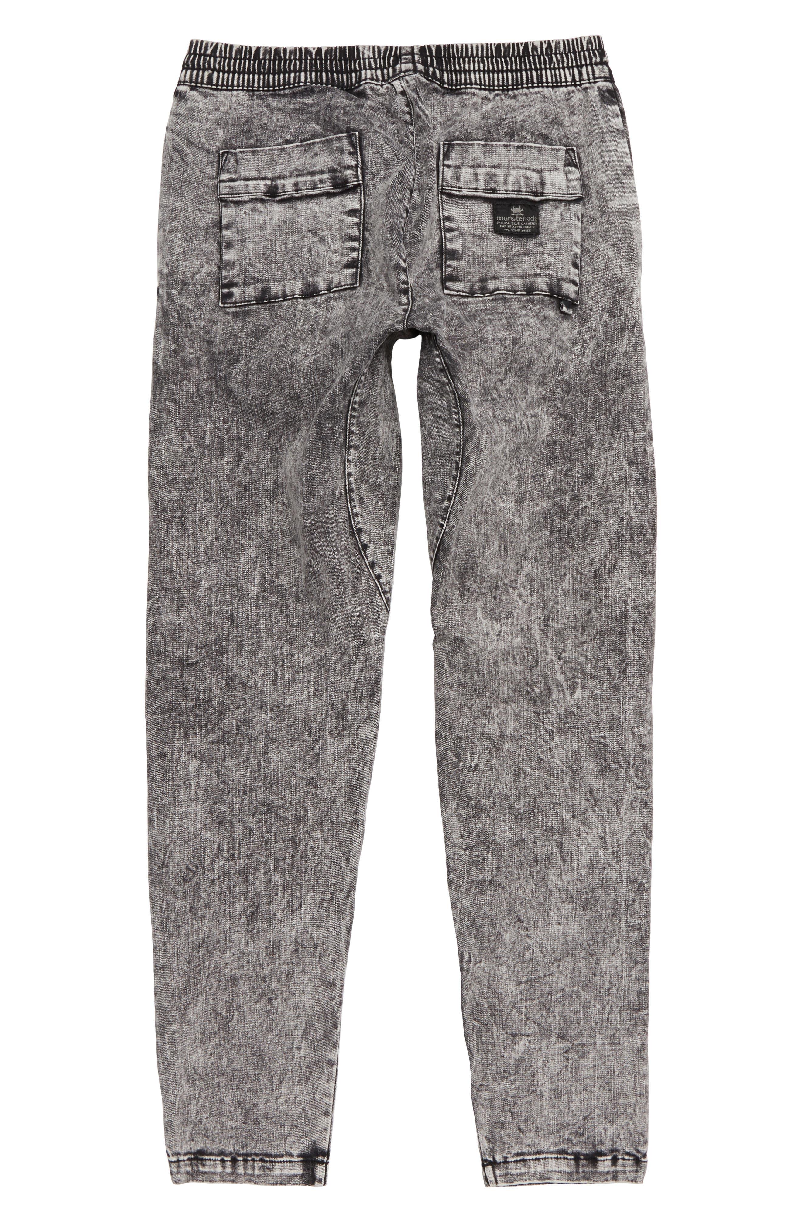 Cruz Stretch Cotton Pants,                             Alternate thumbnail 2, color,                             ACID BLACK