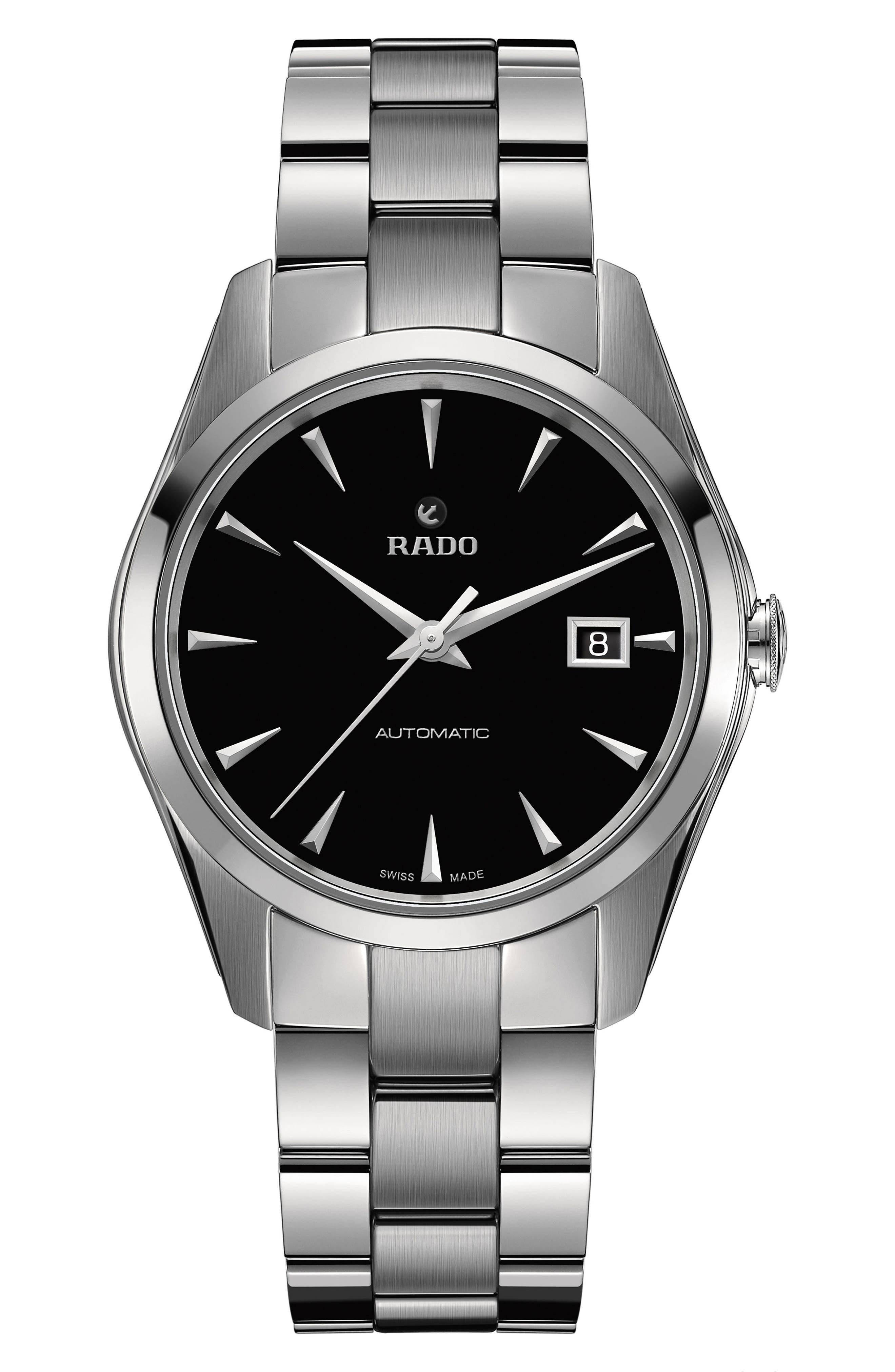 HyperChrome Automatic Bracelet Watch, 38.7mm,                             Main thumbnail 1, color,                             SILVER/ BLACK/ SILVER