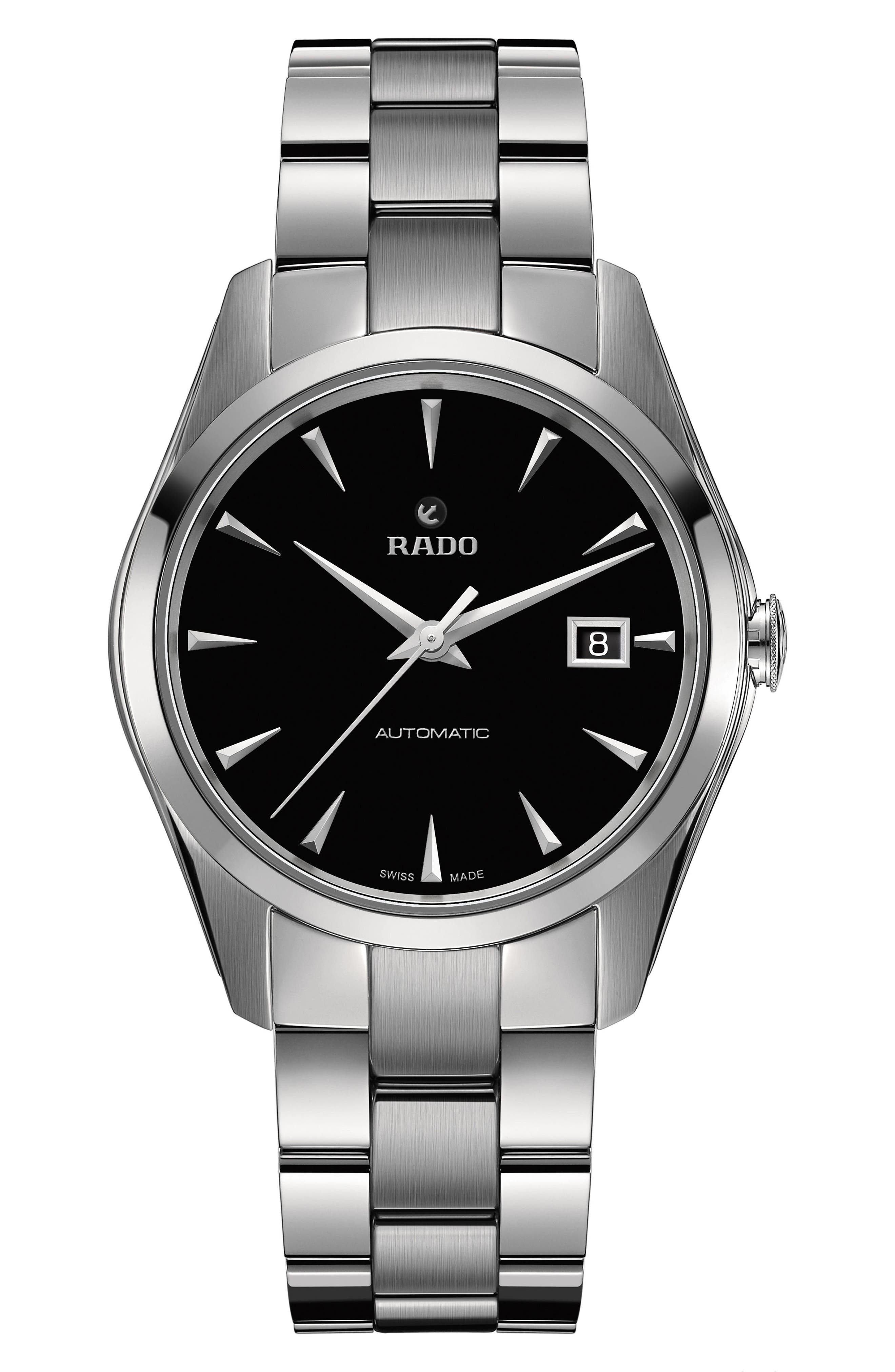 HyperChrome Automatic Bracelet Watch, 38.7mm,                         Main,                         color, SILVER/ BLACK/ SILVER