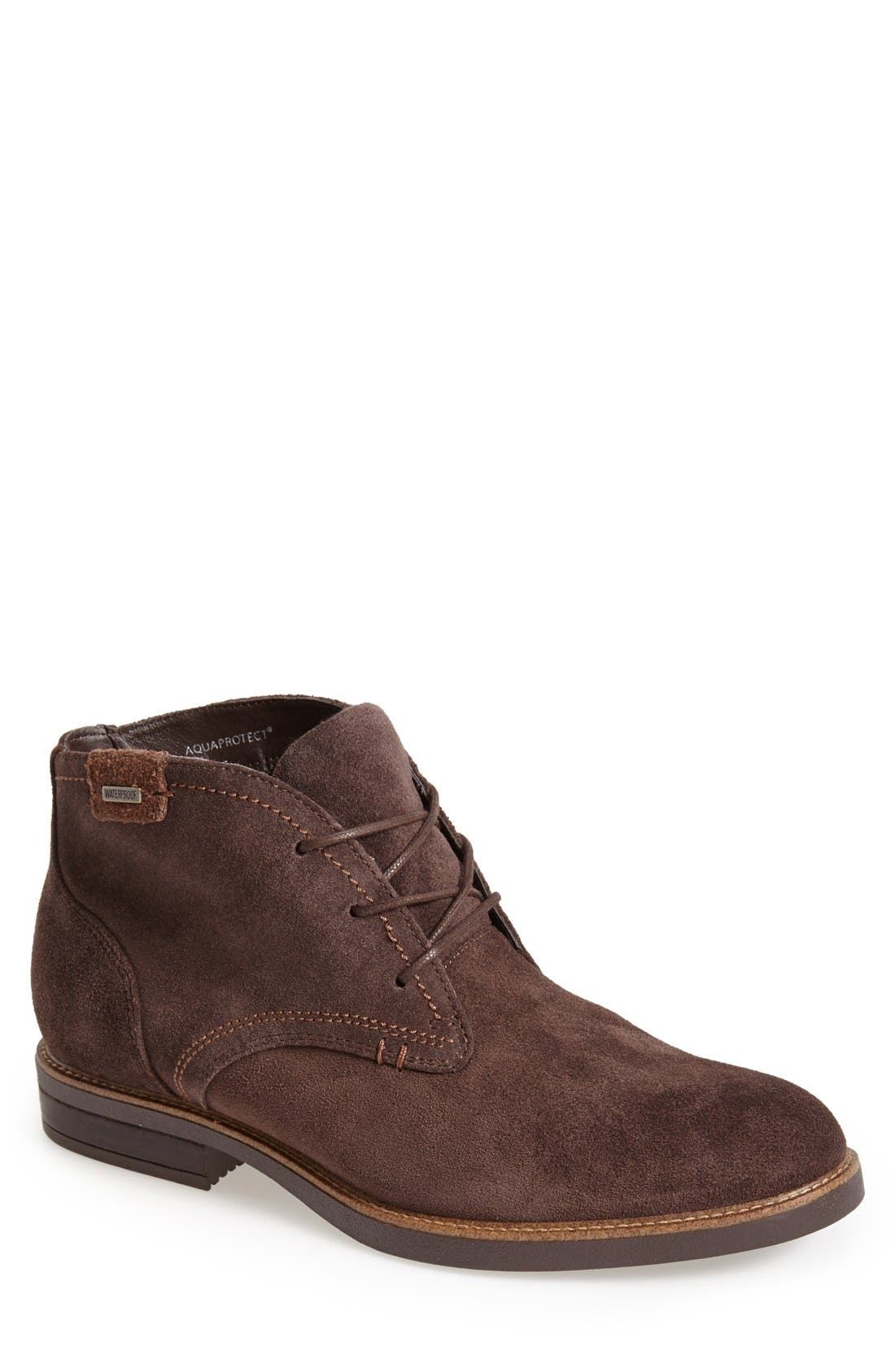 Gustave Waterproof Chukka Boot,                             Main thumbnail 1, color,                             CAFE