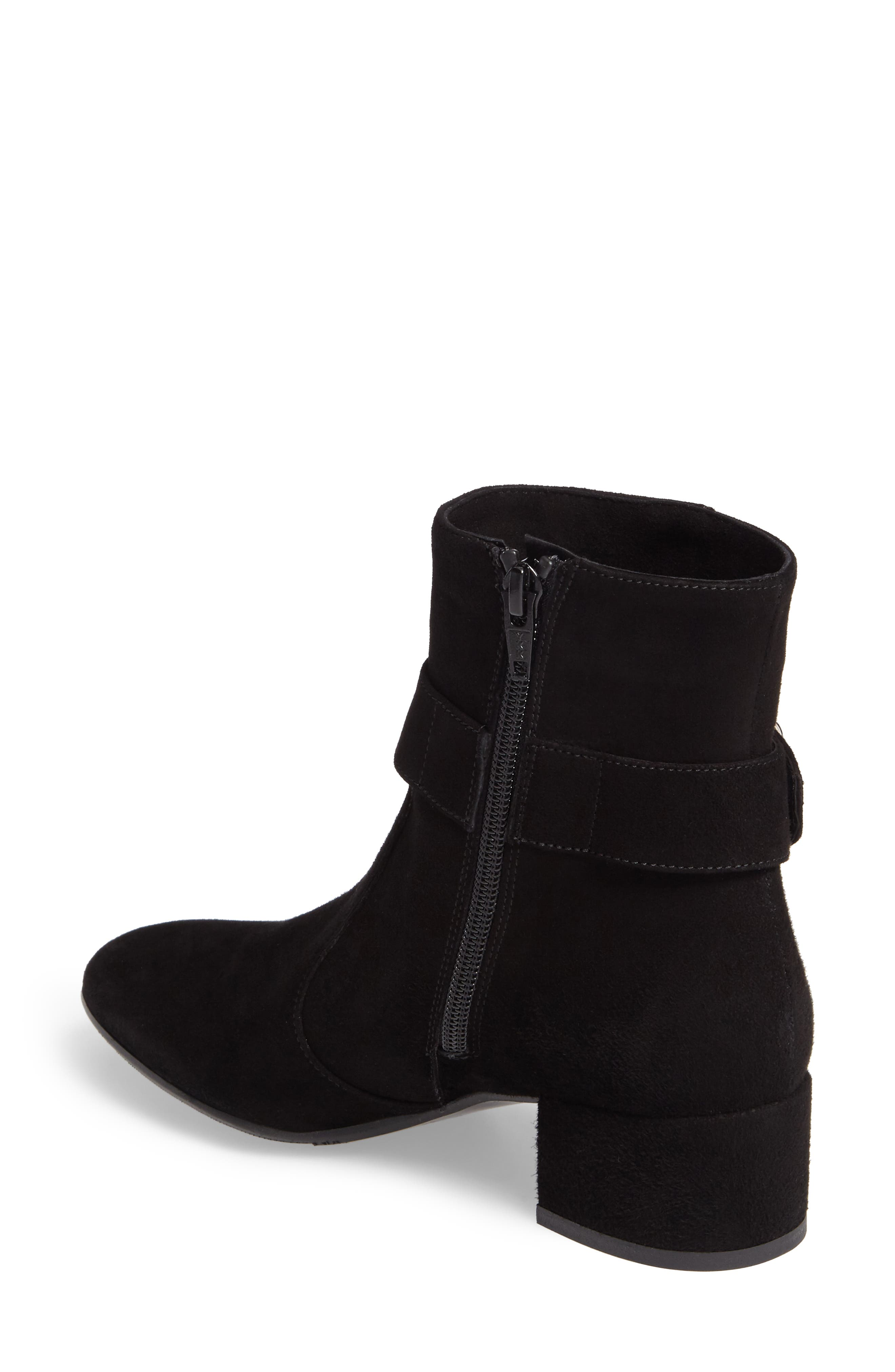 Maddie Buckle Strap Bootie,                             Alternate thumbnail 2, color,                             001