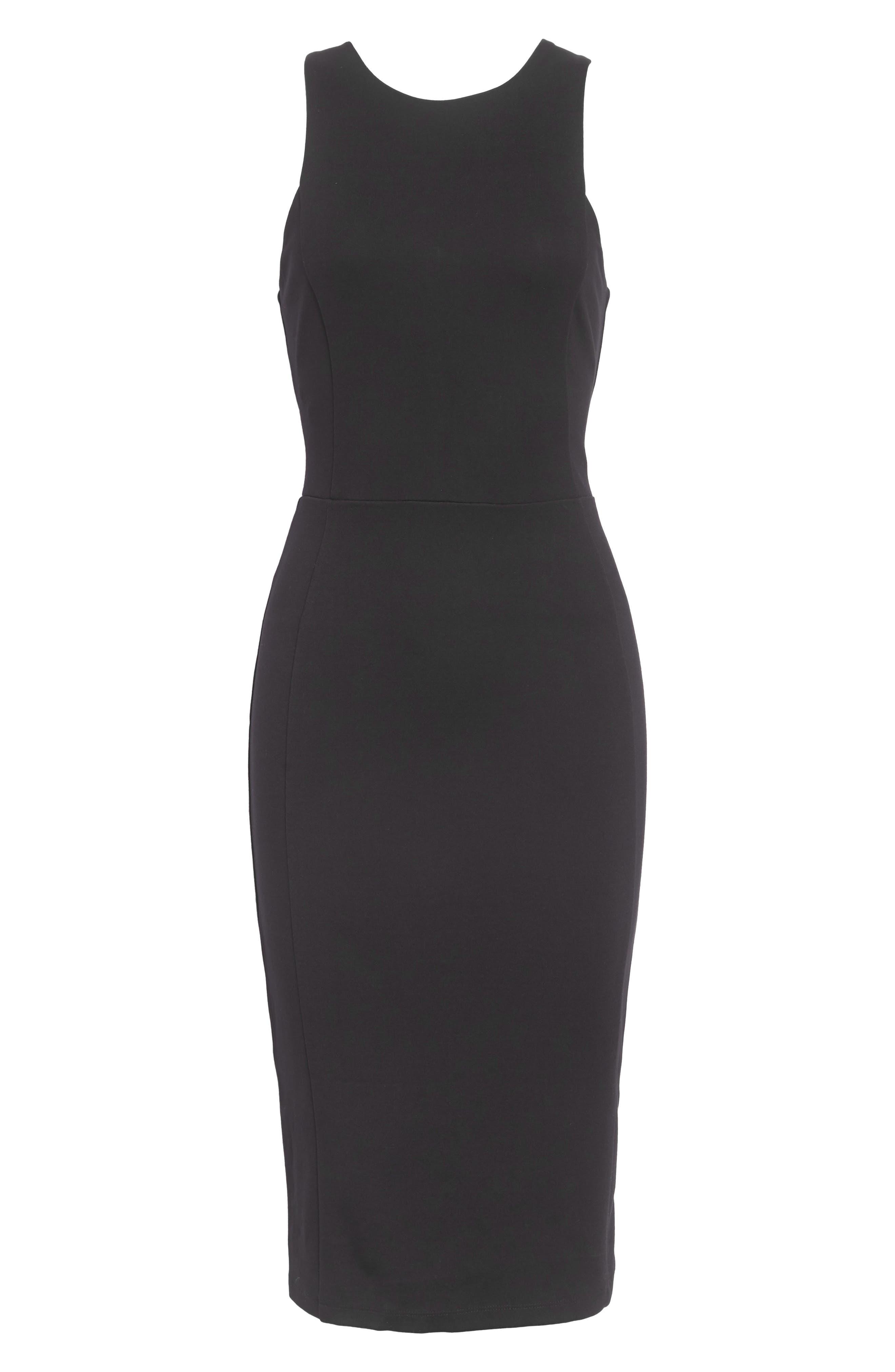 Stretch Sheath Dress,                             Main thumbnail 1, color,                             001