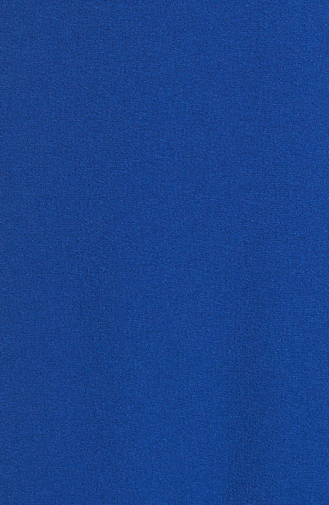 Stretch Crepe Blouson Halter Dress,                             Alternate thumbnail 5, color,                             494