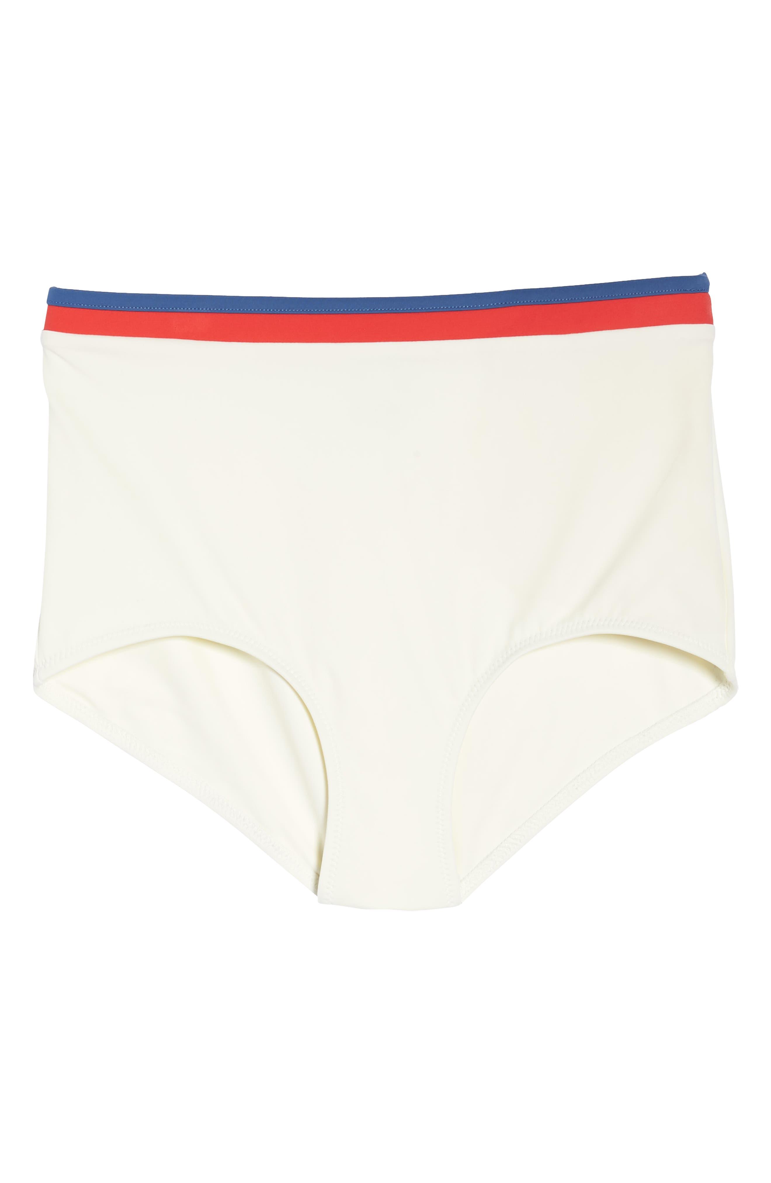 Solid & Stripe Katie High Waist Bikini Bottoms,                             Alternate thumbnail 6, color,                             900