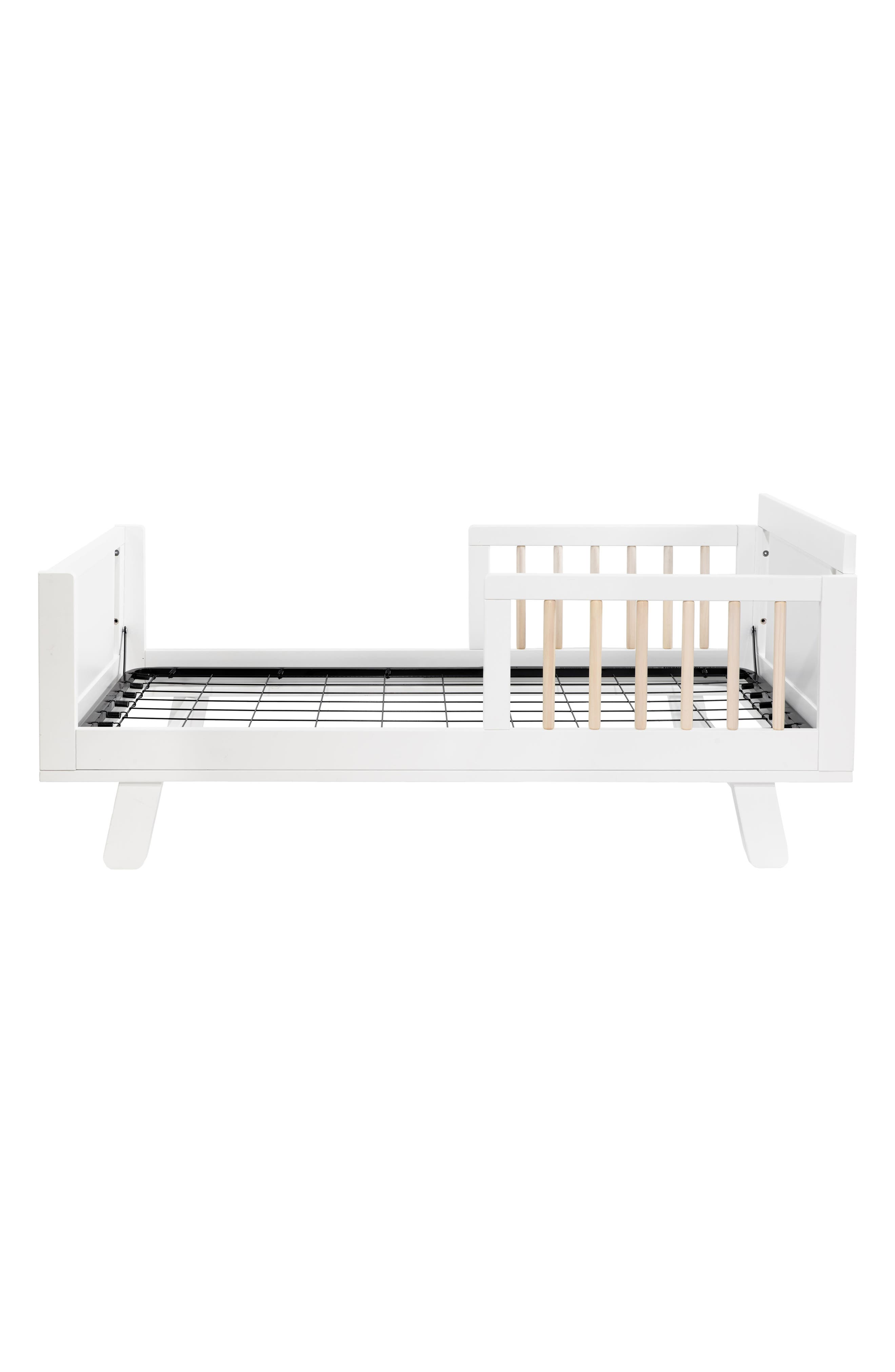 Junior Bed Conversion Kit for Hudson and Scoot Cribs,                             Alternate thumbnail 3, color,                             WHITE AND WASHED NATURAL