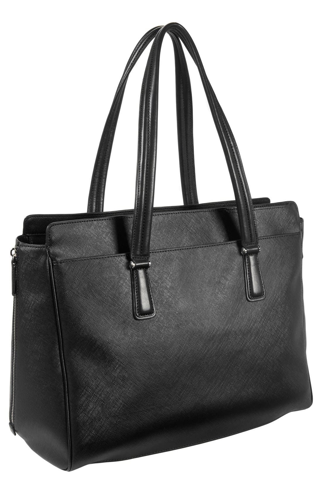 'Sinclair - Large Lynn' Coated Canvas Tote,                             Alternate thumbnail 5, color,                             001